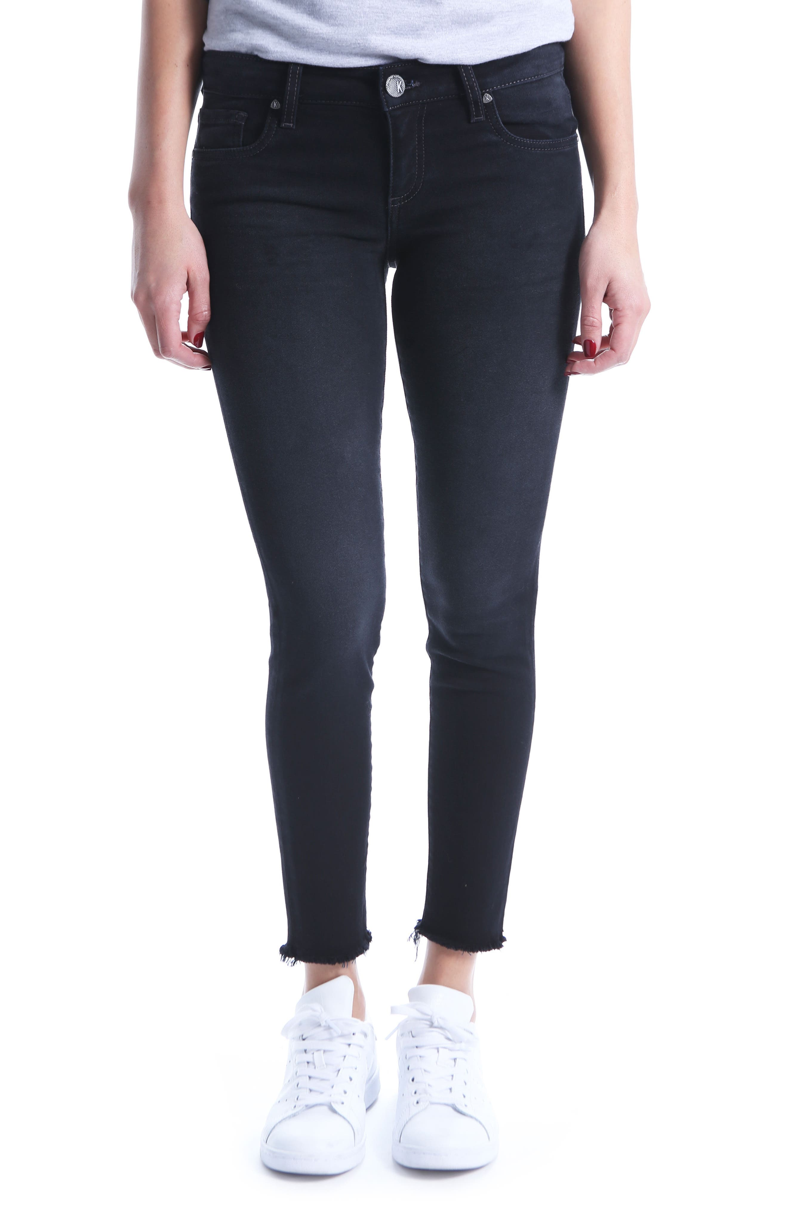 KUT FROM THE KLOTH,                             Donna Ankle Skinny Jeans,                             Main thumbnail 1, color,                             001