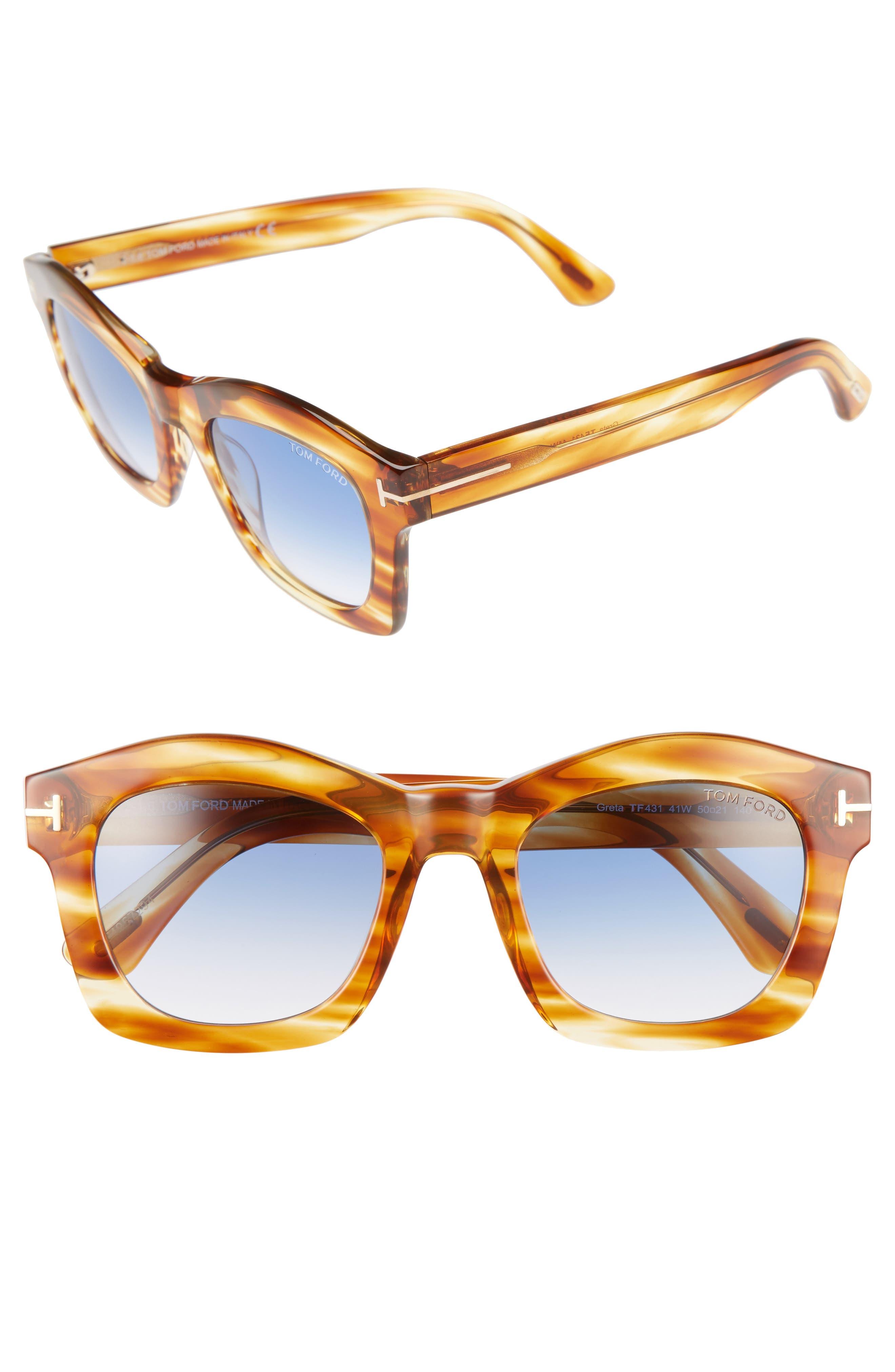 'Greta' 50mm Sunglasses,                             Main thumbnail 4, color,