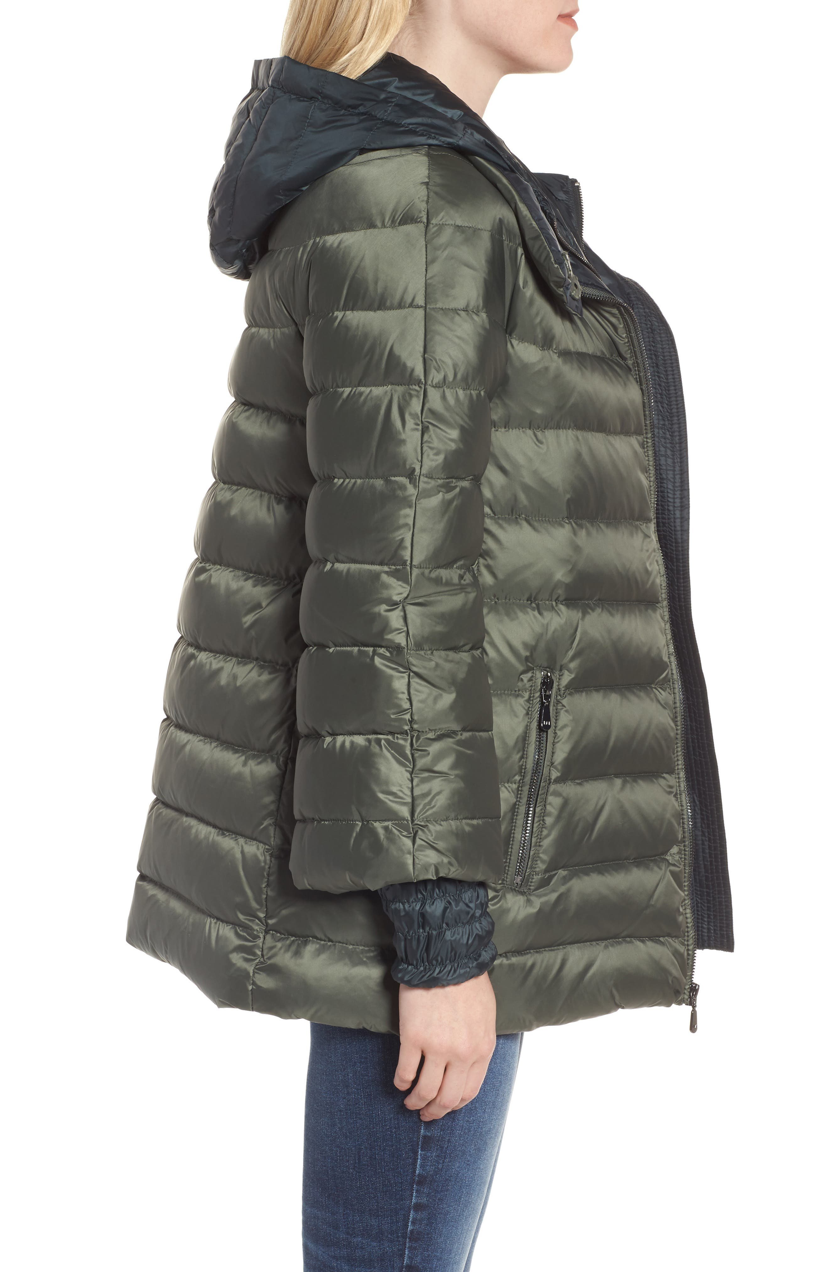 3-in-1 Layered Packable Quilted Down Coat,                             Alternate thumbnail 6, color,