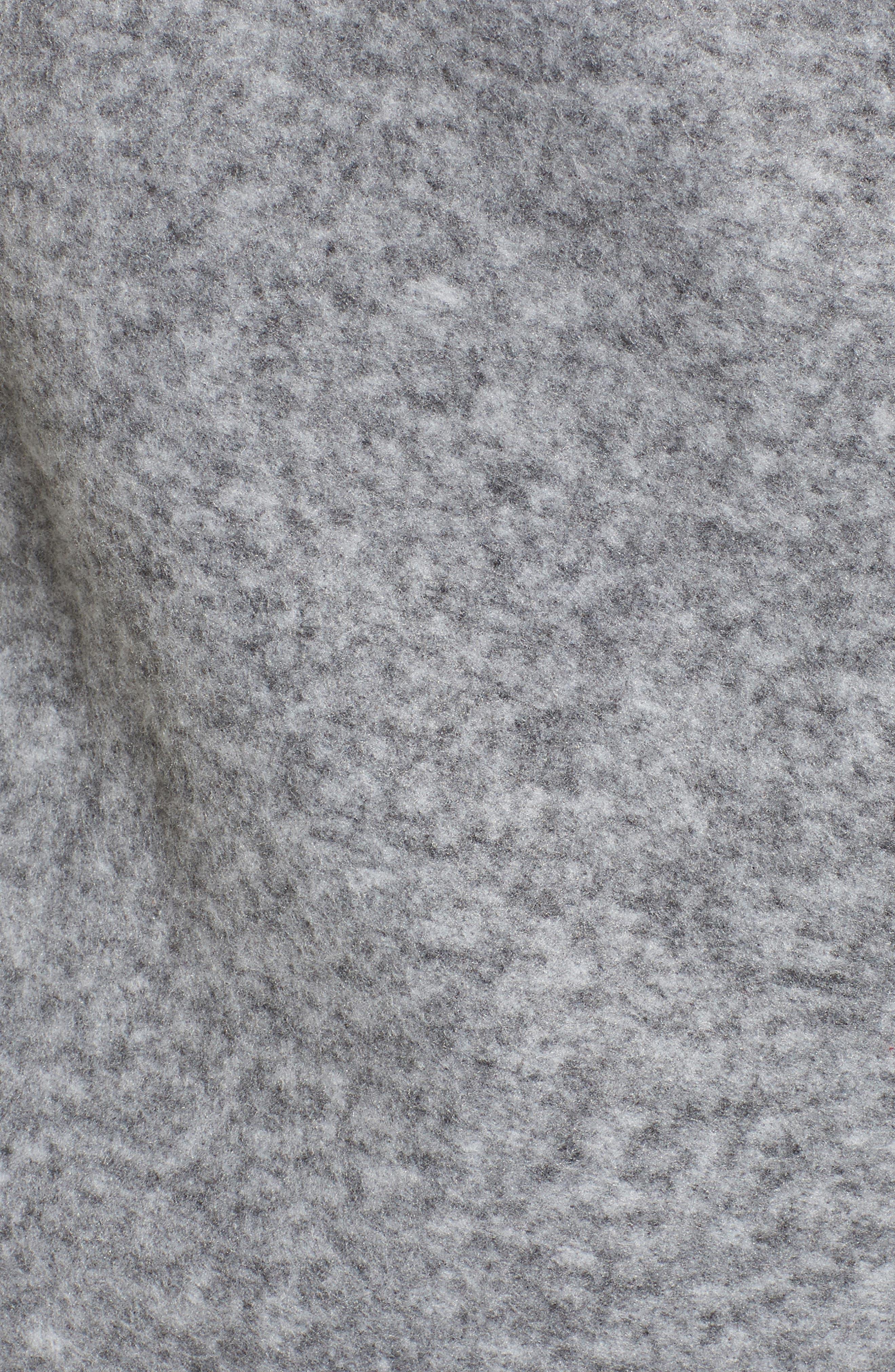 Maggie Brushed Fleece Drape Collar Coat,                             Alternate thumbnail 12, color,