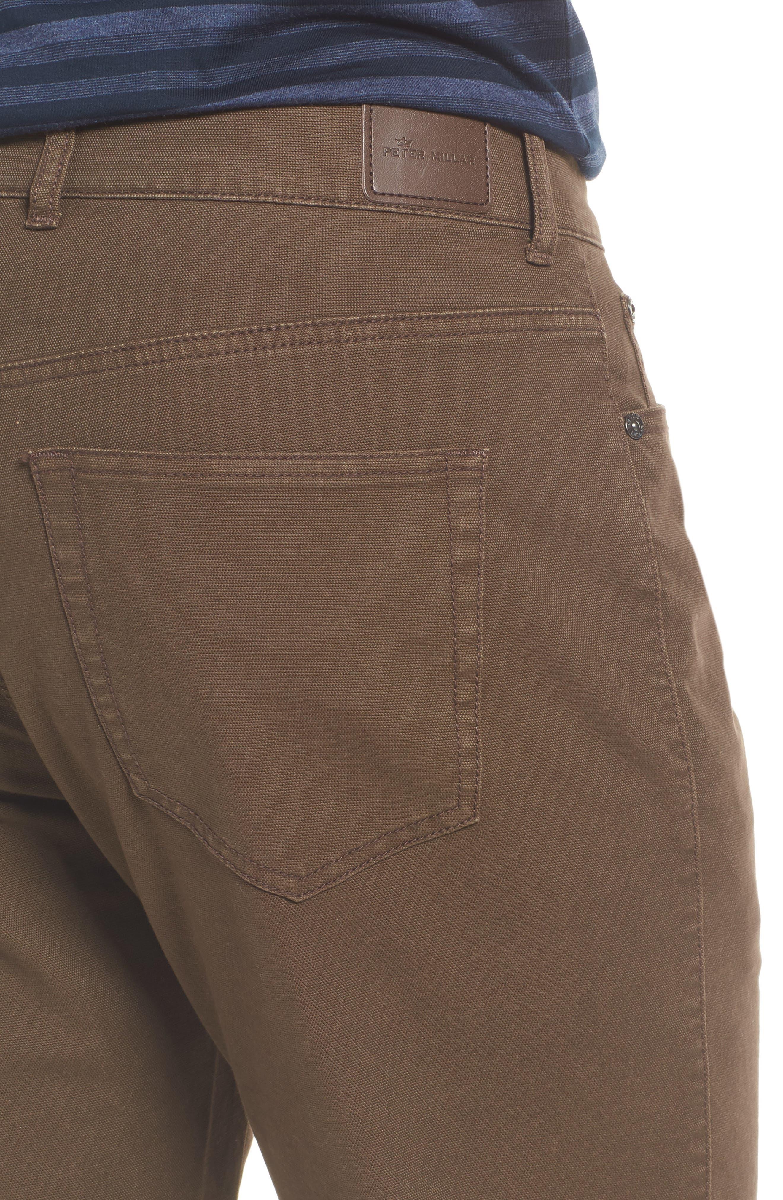 Crown Vintage Canvas Pants,                             Alternate thumbnail 4, color,                             CANOPY BROWN