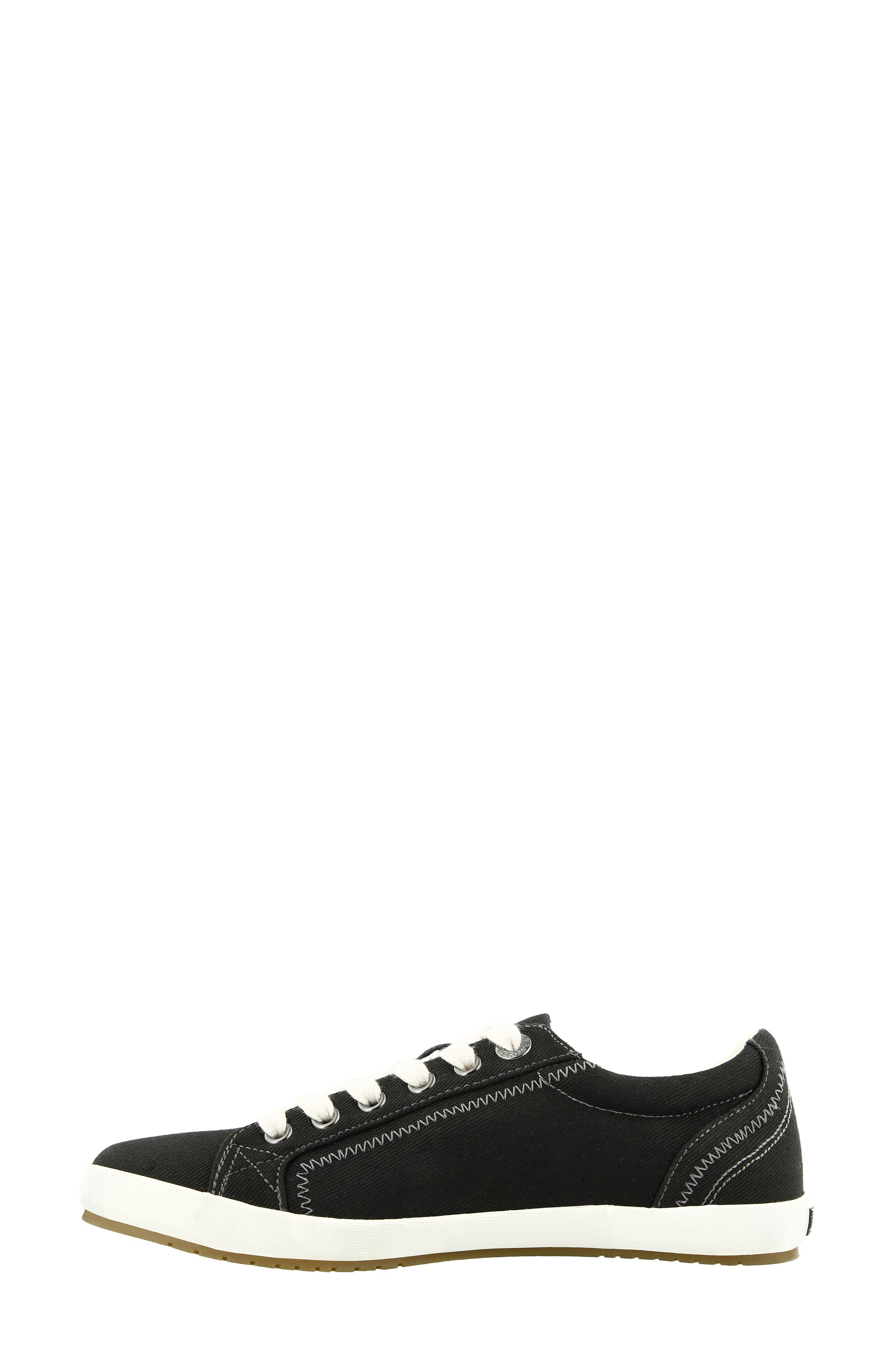 'Star' Sneaker,                             Alternate thumbnail 3, color,                             BLACK CANVAS