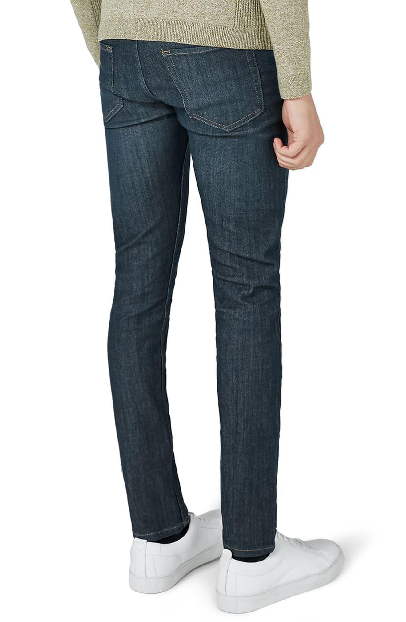 Coated Denim Skinny Jeans,                             Alternate thumbnail 2, color,                             BLUE