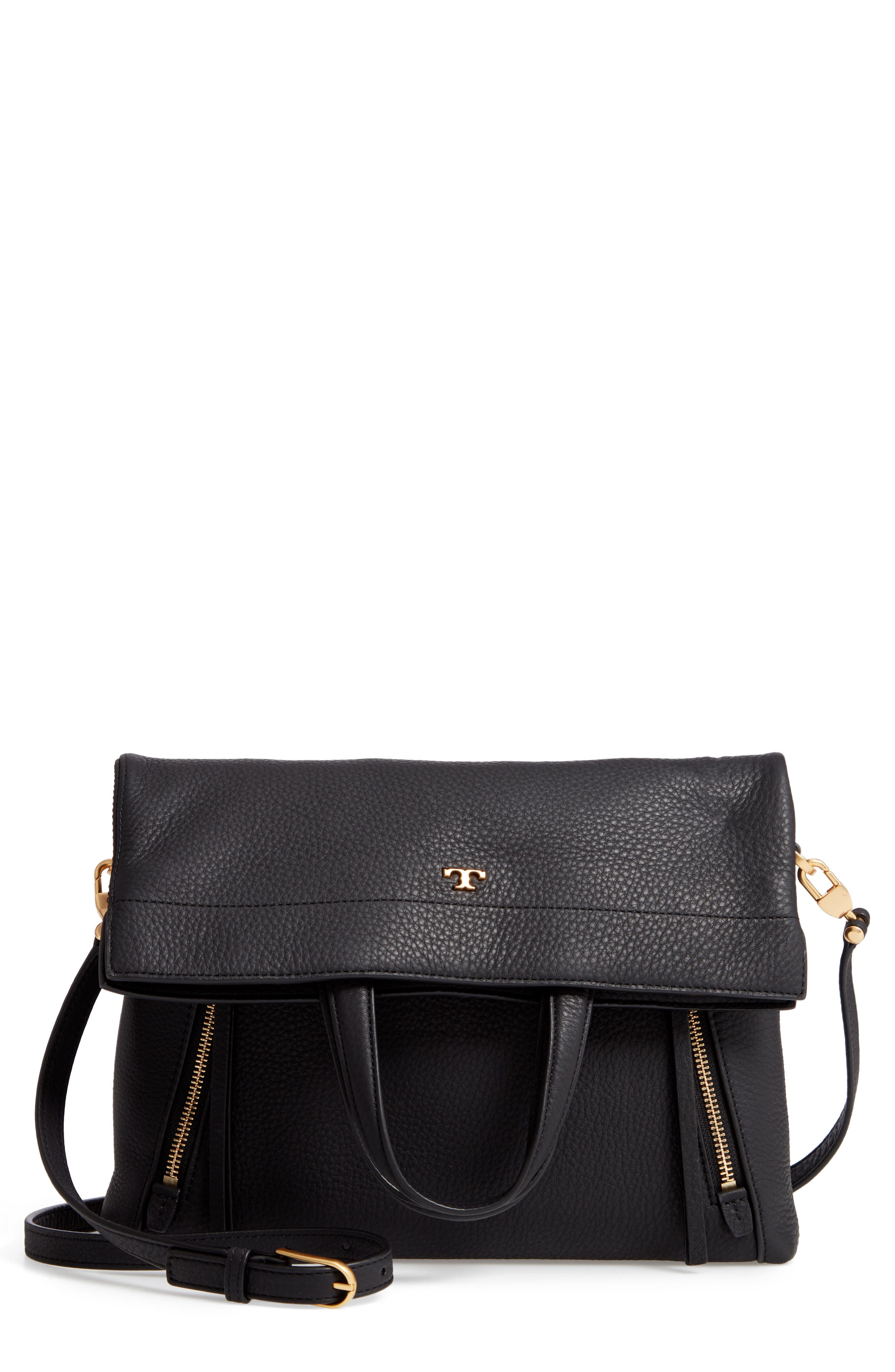 Half Moon Convertible Crossbody Bag,                             Main thumbnail 1, color,                             001