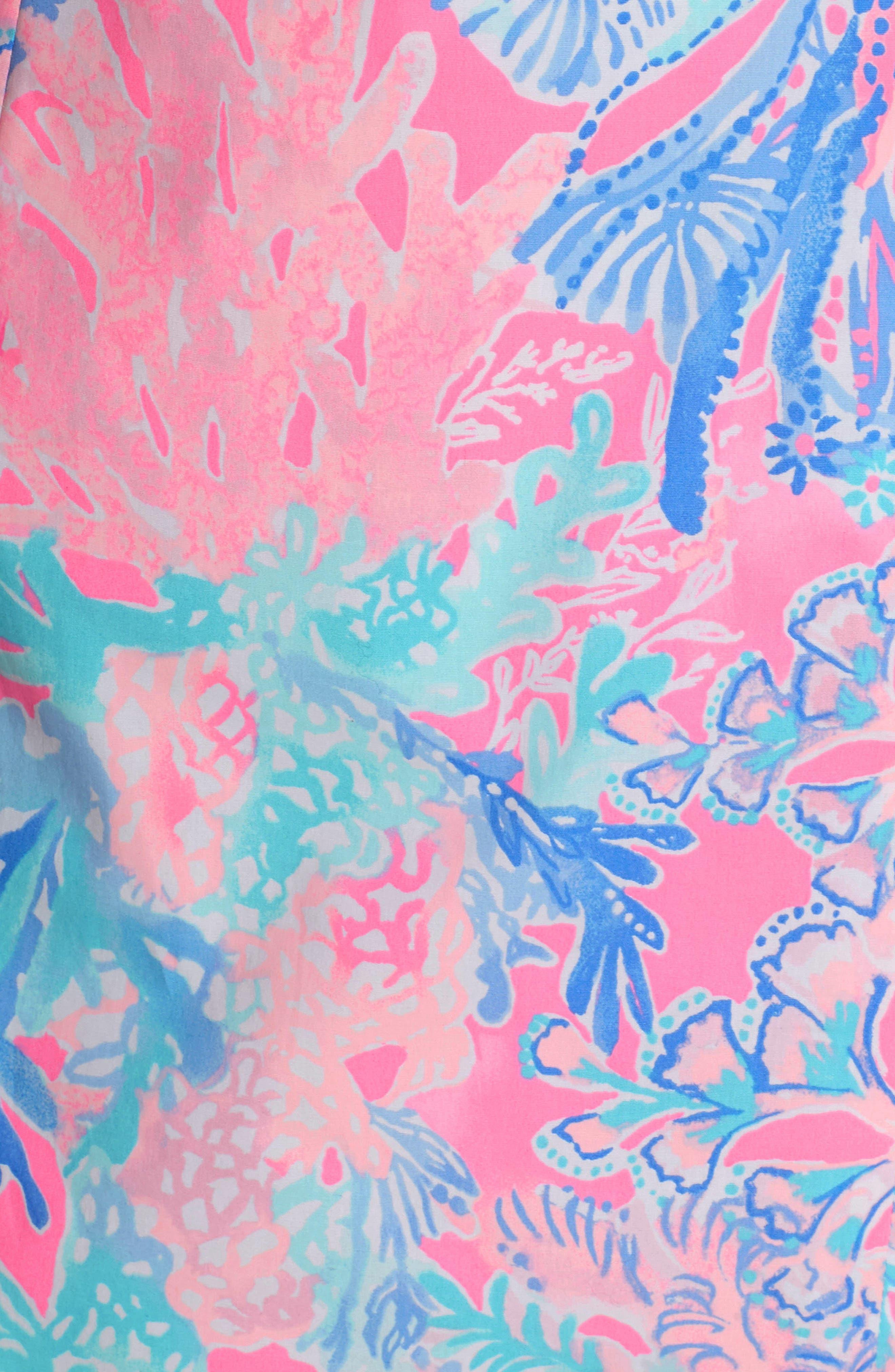 Fiesta Stretch Sheath Dress,                             Alternate thumbnail 6, color,                             LIGHT PASCHA PINK AQUADESIAC