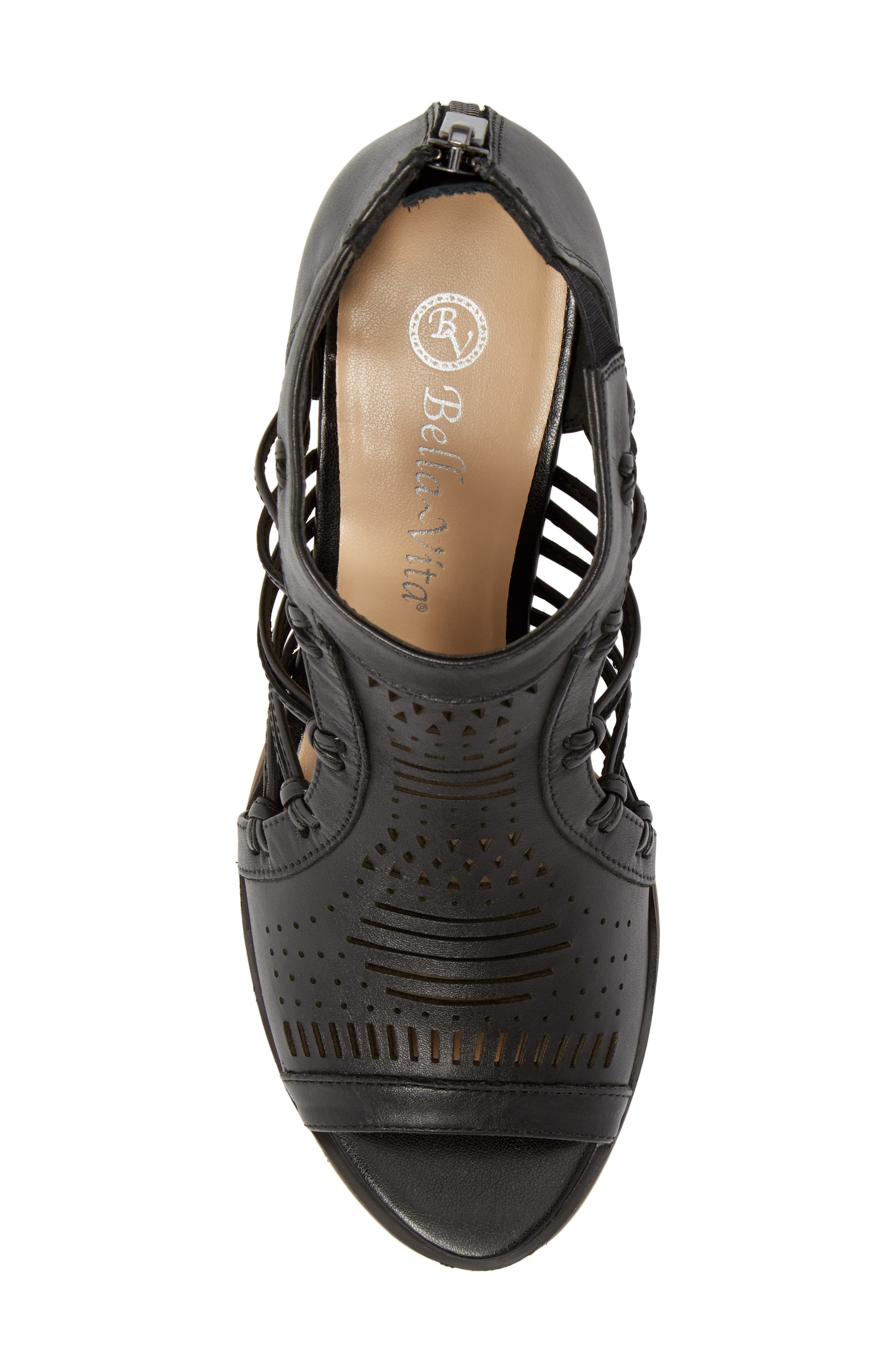 Kortez Block Heel Sandal,                             Alternate thumbnail 5, color,                             BLACK LEATHER