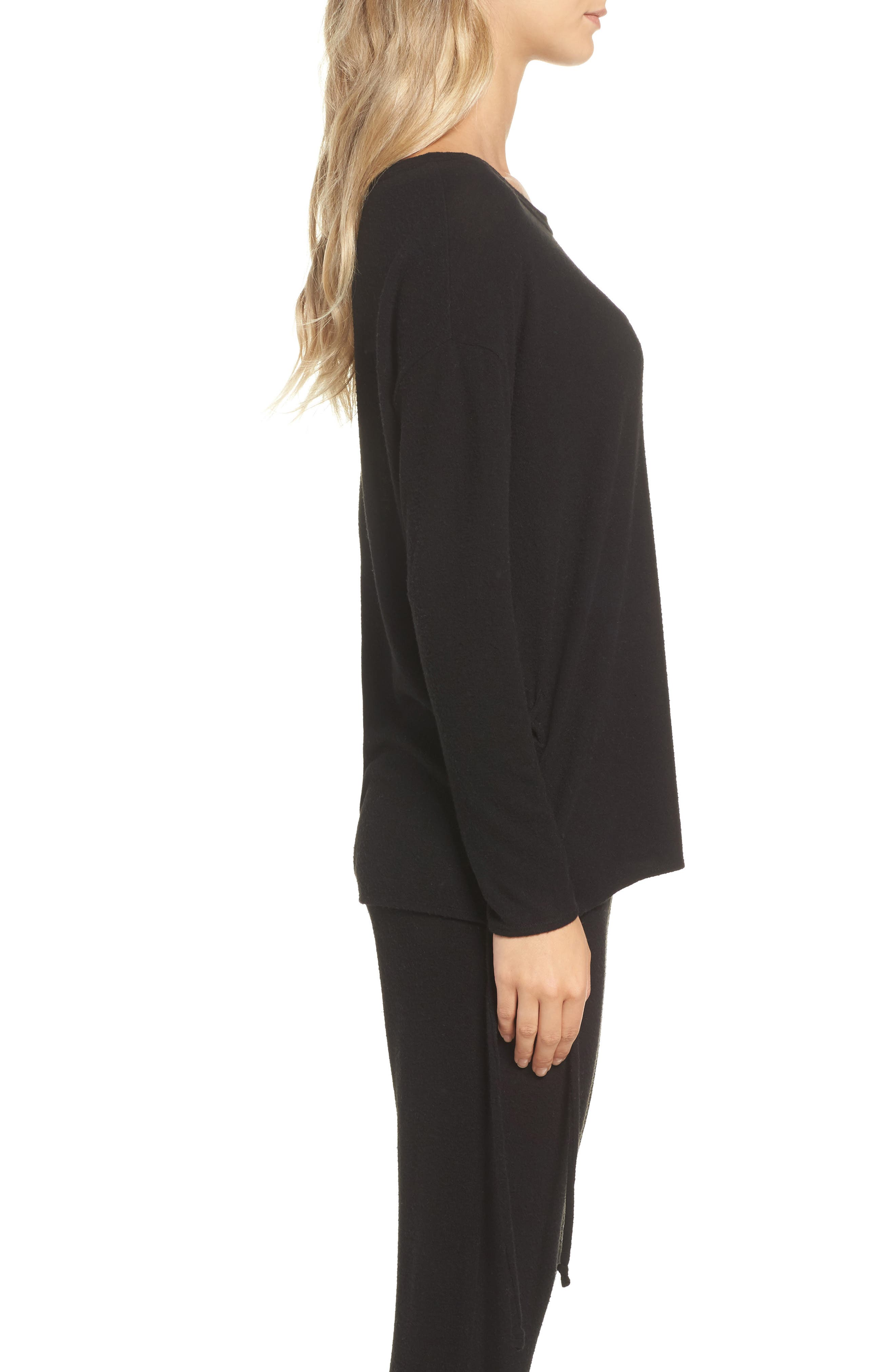 Lace-Up Side Pullover,                             Alternate thumbnail 3, color,                             003