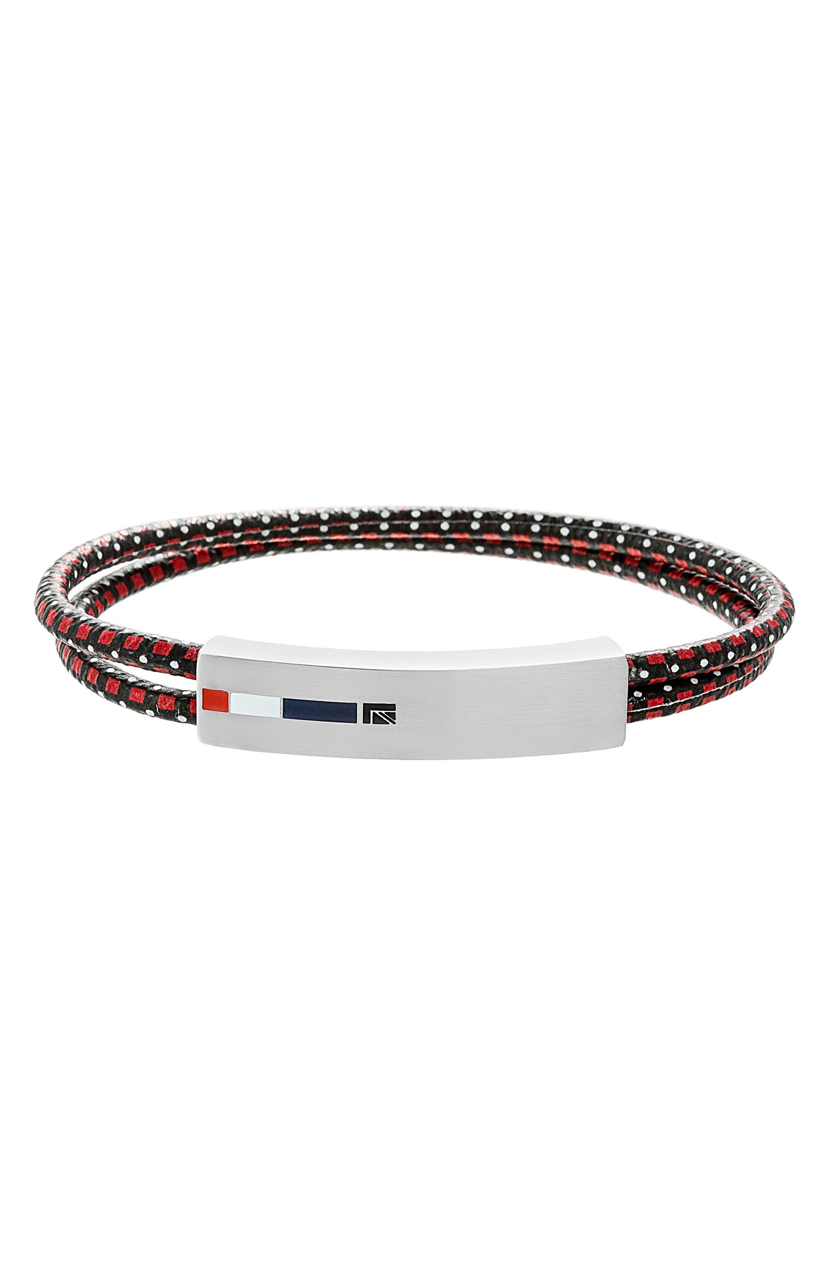 Double Cord Bracelet,                             Main thumbnail 1, color,                             002