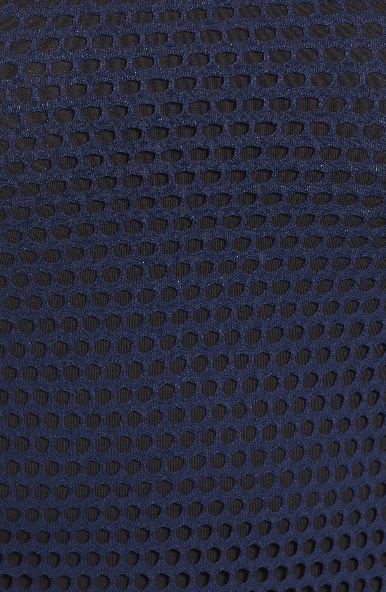 Raglan Sleeve Mesh Top,                             Alternate thumbnail 5, color,                             411