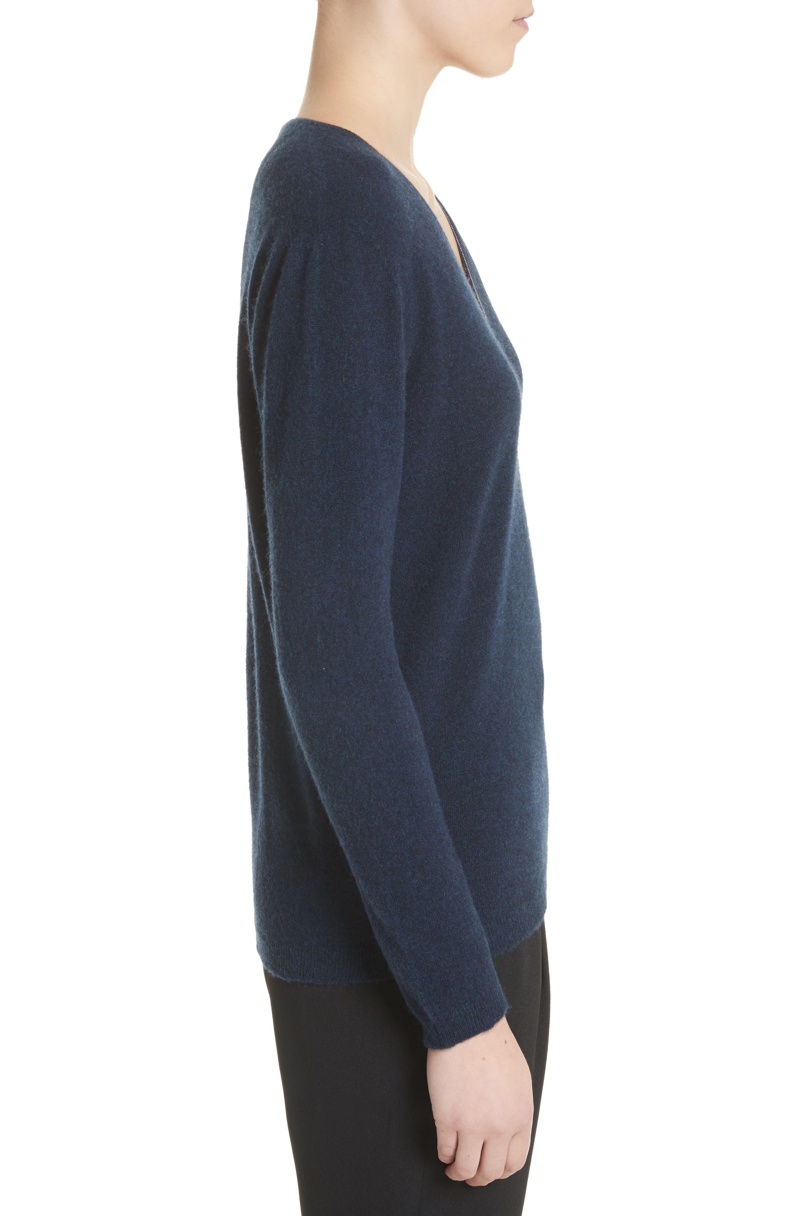 V-Neck Cashmere Sweater,                             Alternate thumbnail 6, color,