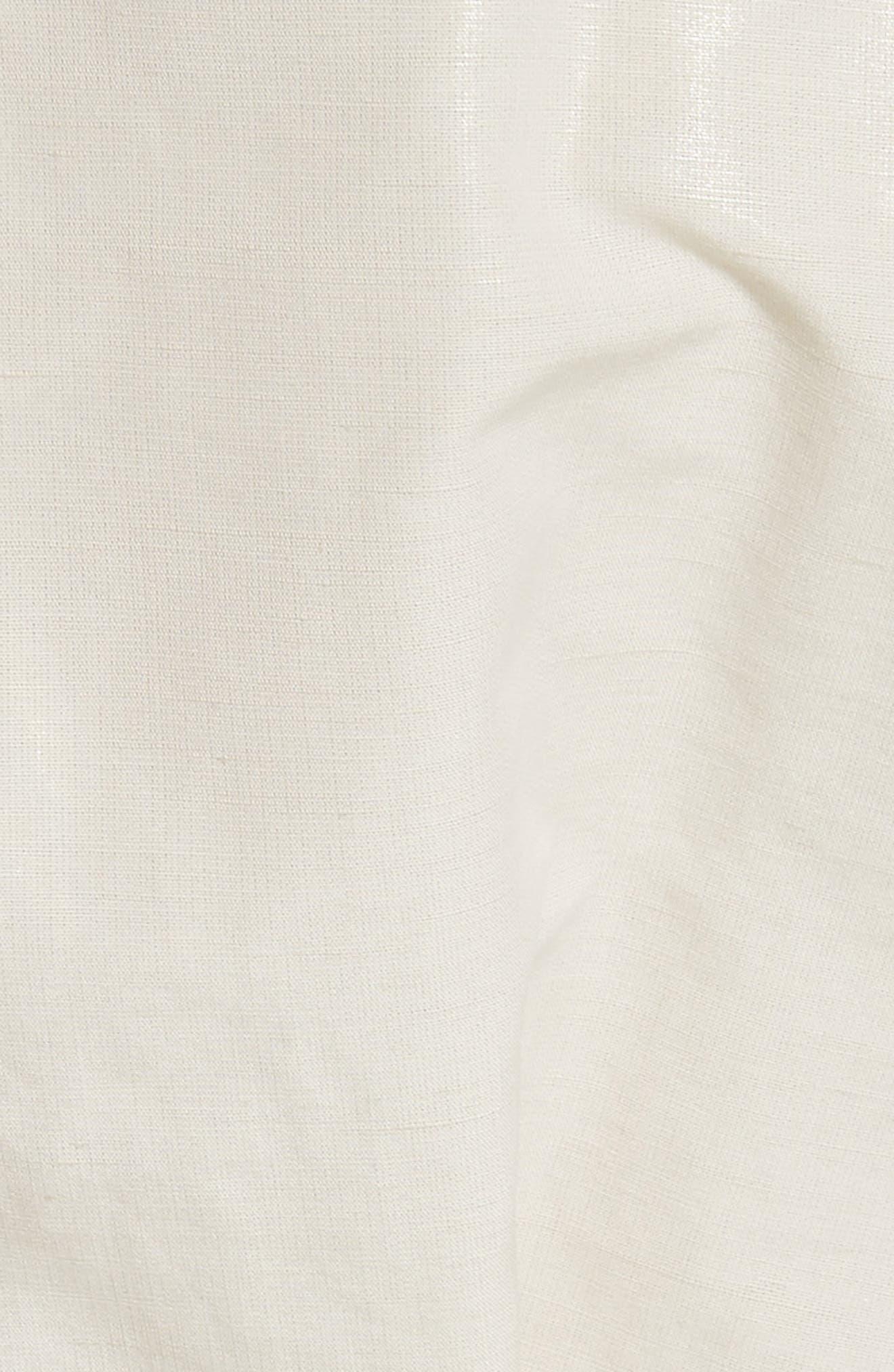 Hacene Cotton & Linen Crop Jacket,                             Alternate thumbnail 6, color,                             250