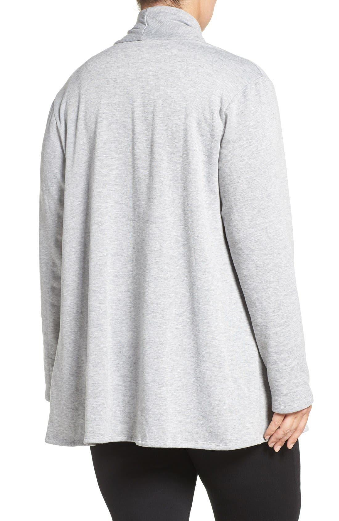 One-Button Fleece Cardigan,                             Alternate thumbnail 213, color,