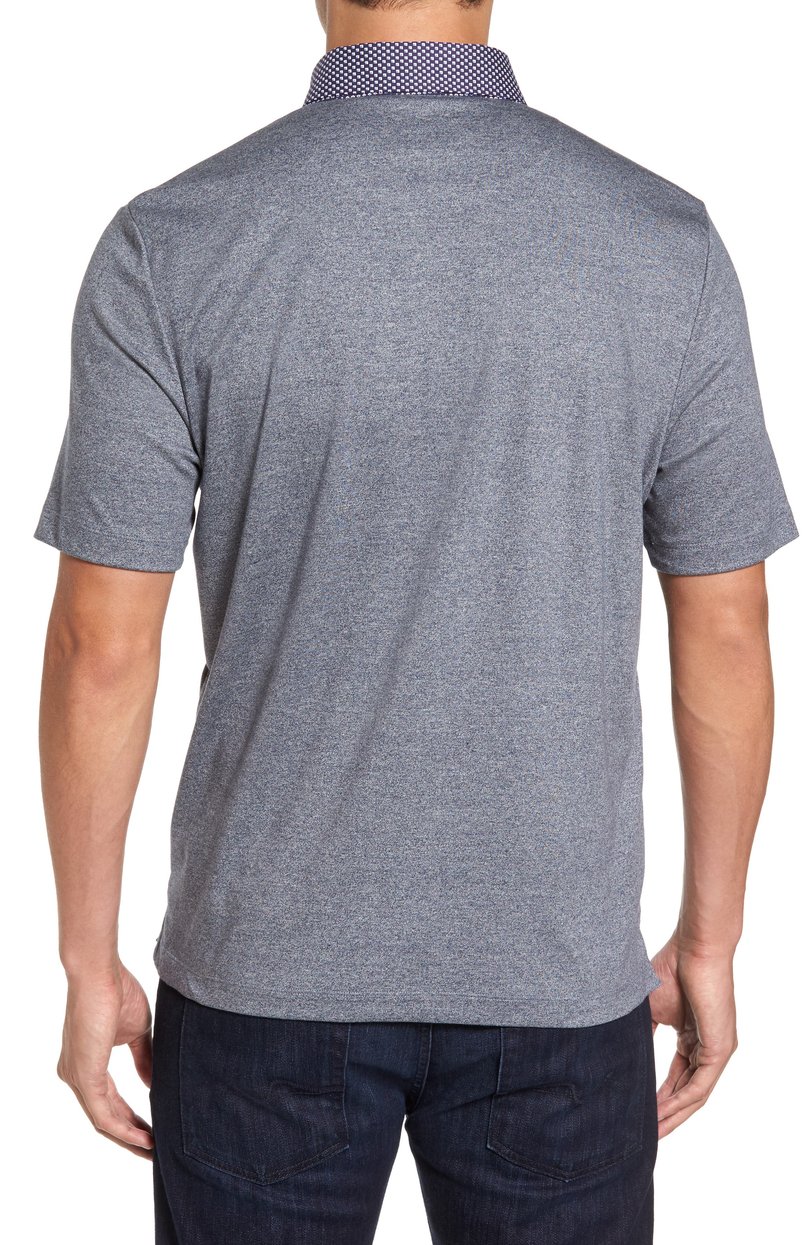 Heathered Button Down Polo,                             Alternate thumbnail 2, color,                             400