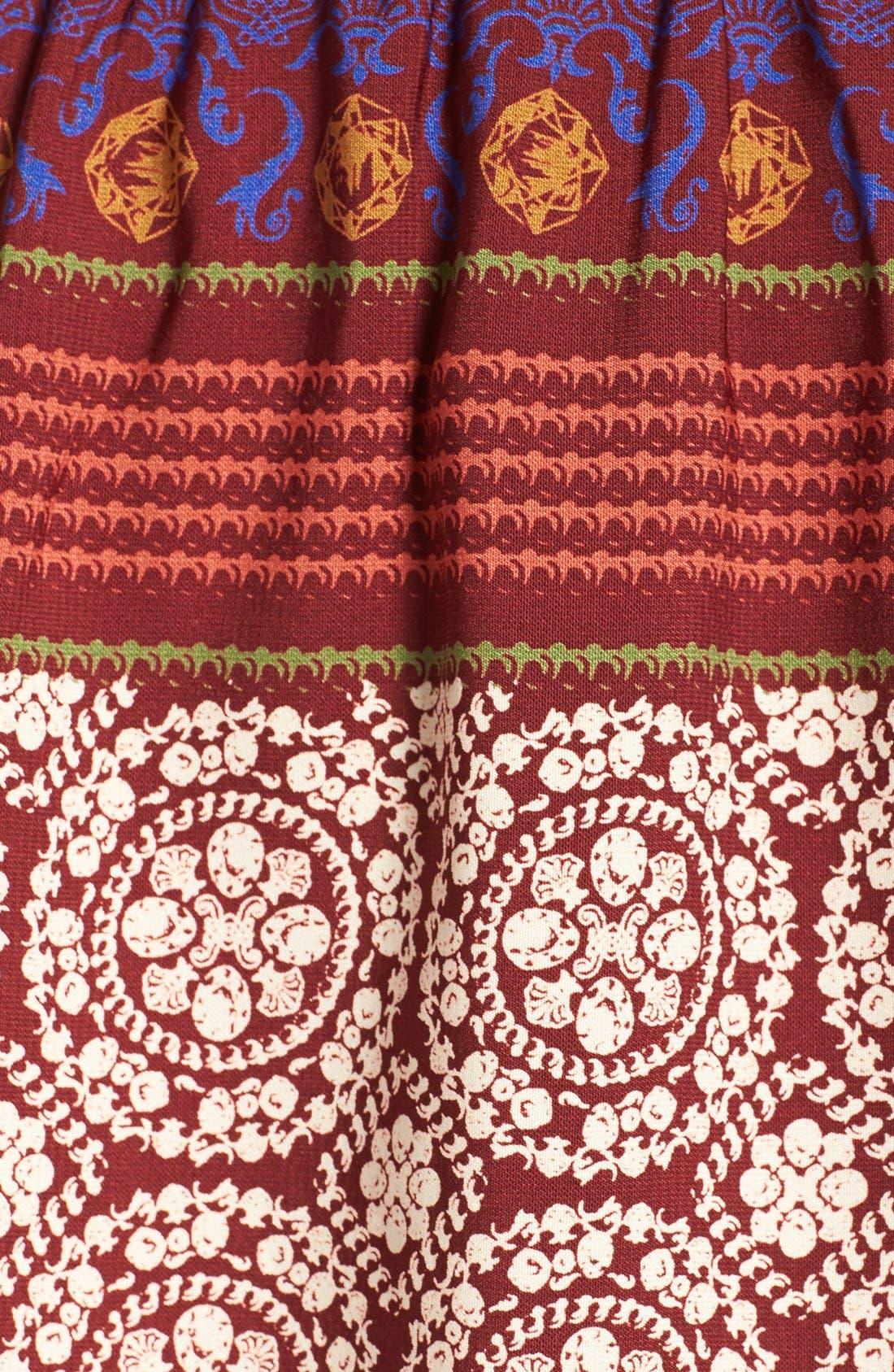 'Nora' Print High/Low Maxi Dress,                             Alternate thumbnail 5, color,                             939