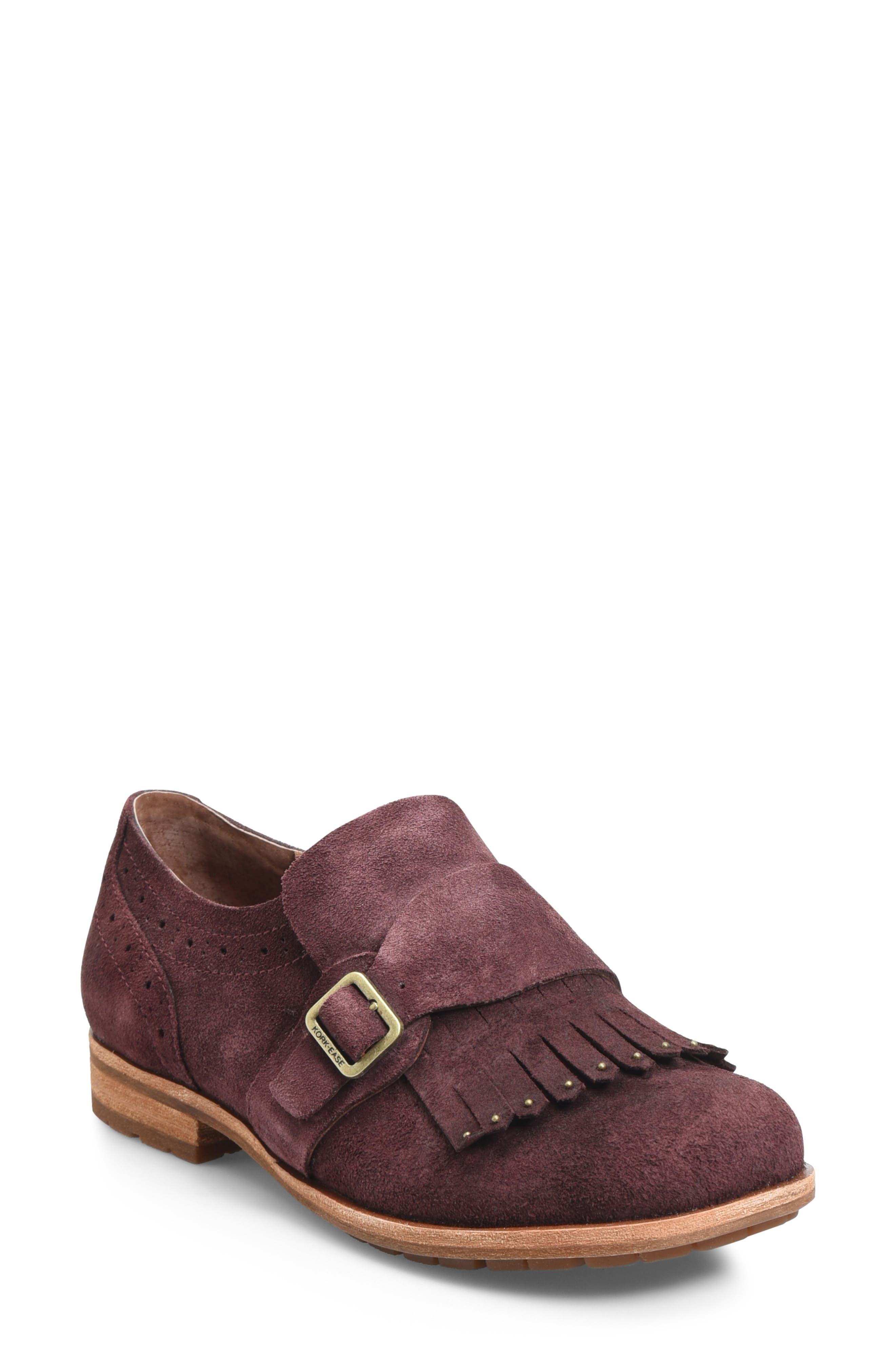 Kork-Ease Bailee Kiltie Monk Strap Shoe, Red