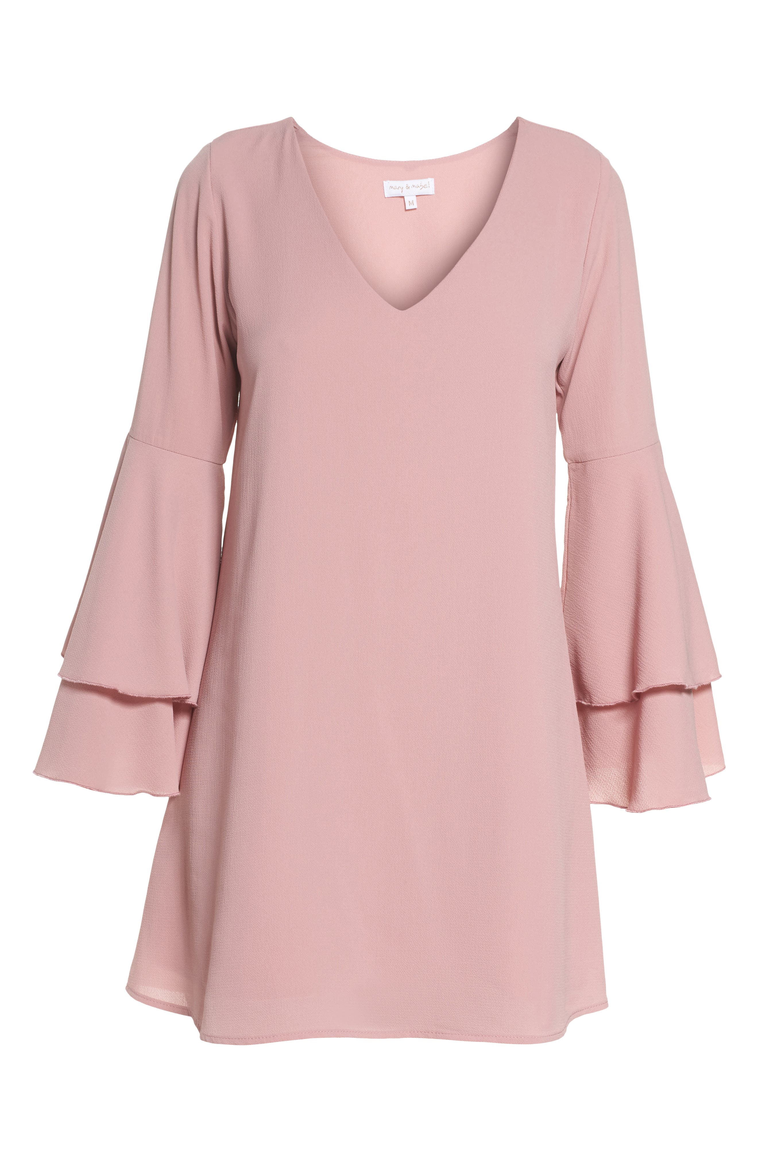 Bell Sleeve Dress,                             Alternate thumbnail 6, color,                             681