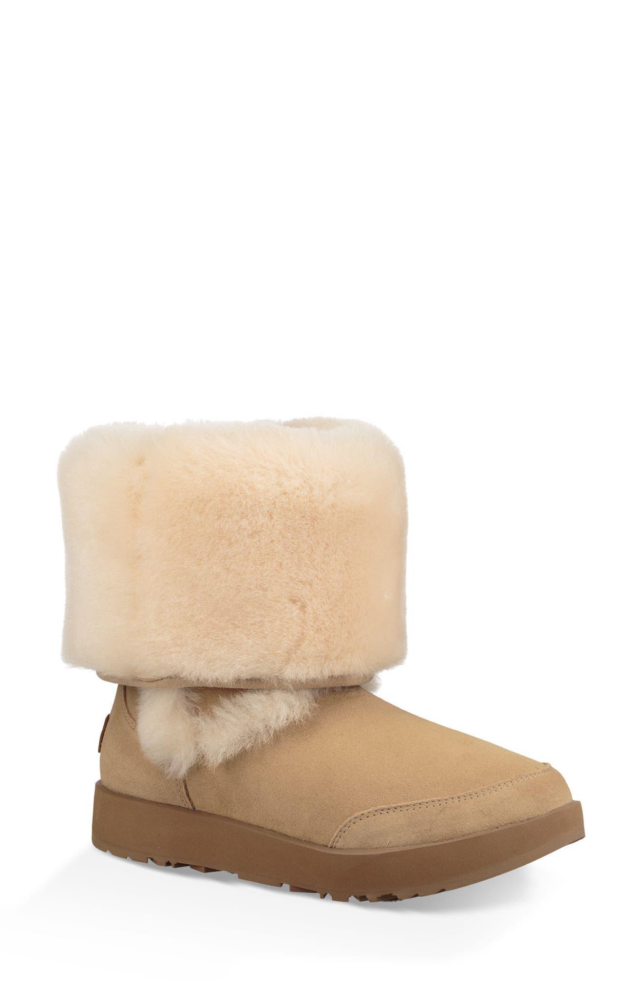 Sundance Genuine Shearling Waterproof Boot,                             Alternate thumbnail 8, color,                             251