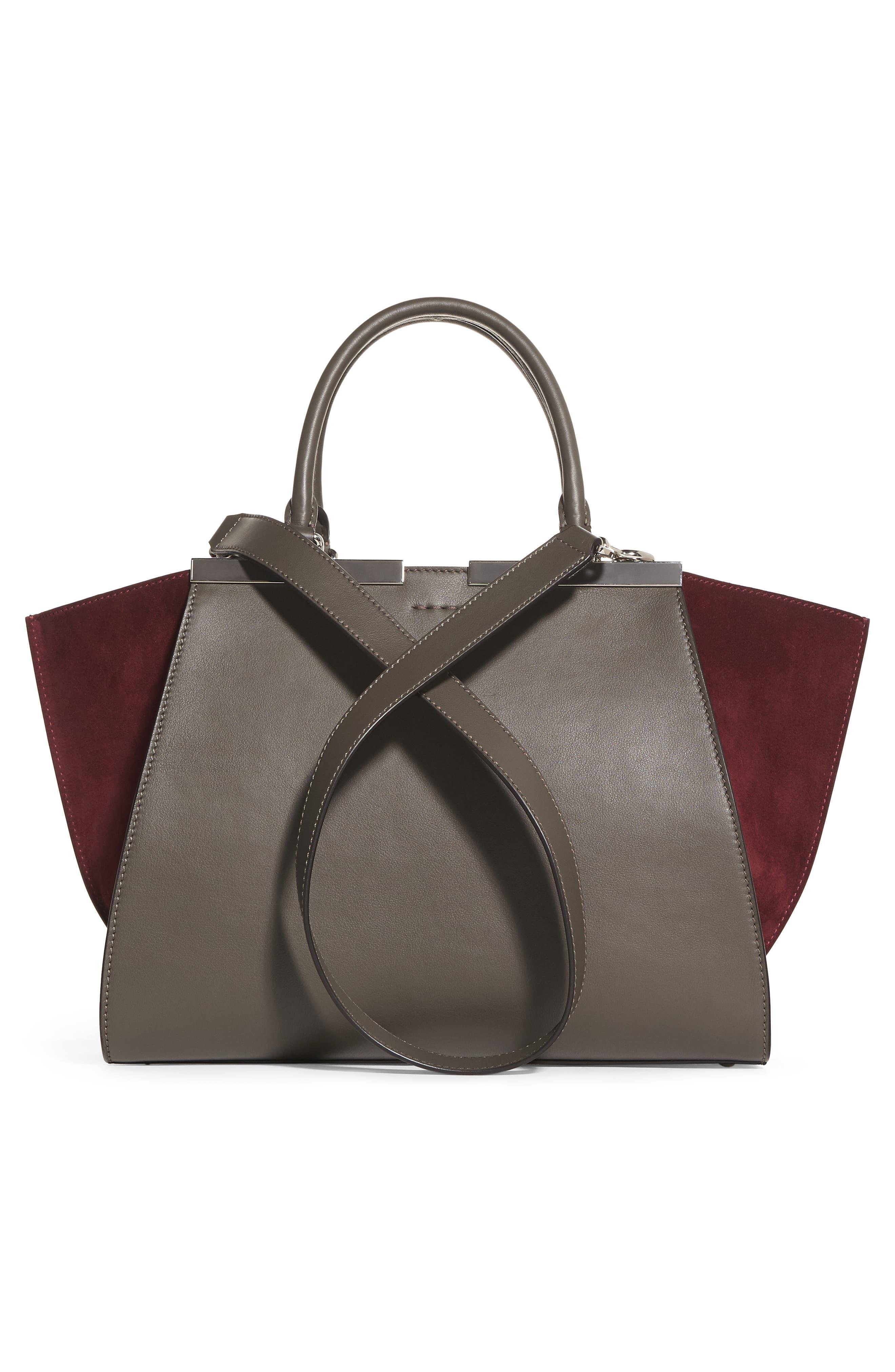 3Jours Baltico Leather & Suede Shopper,                             Alternate thumbnail 5, color,