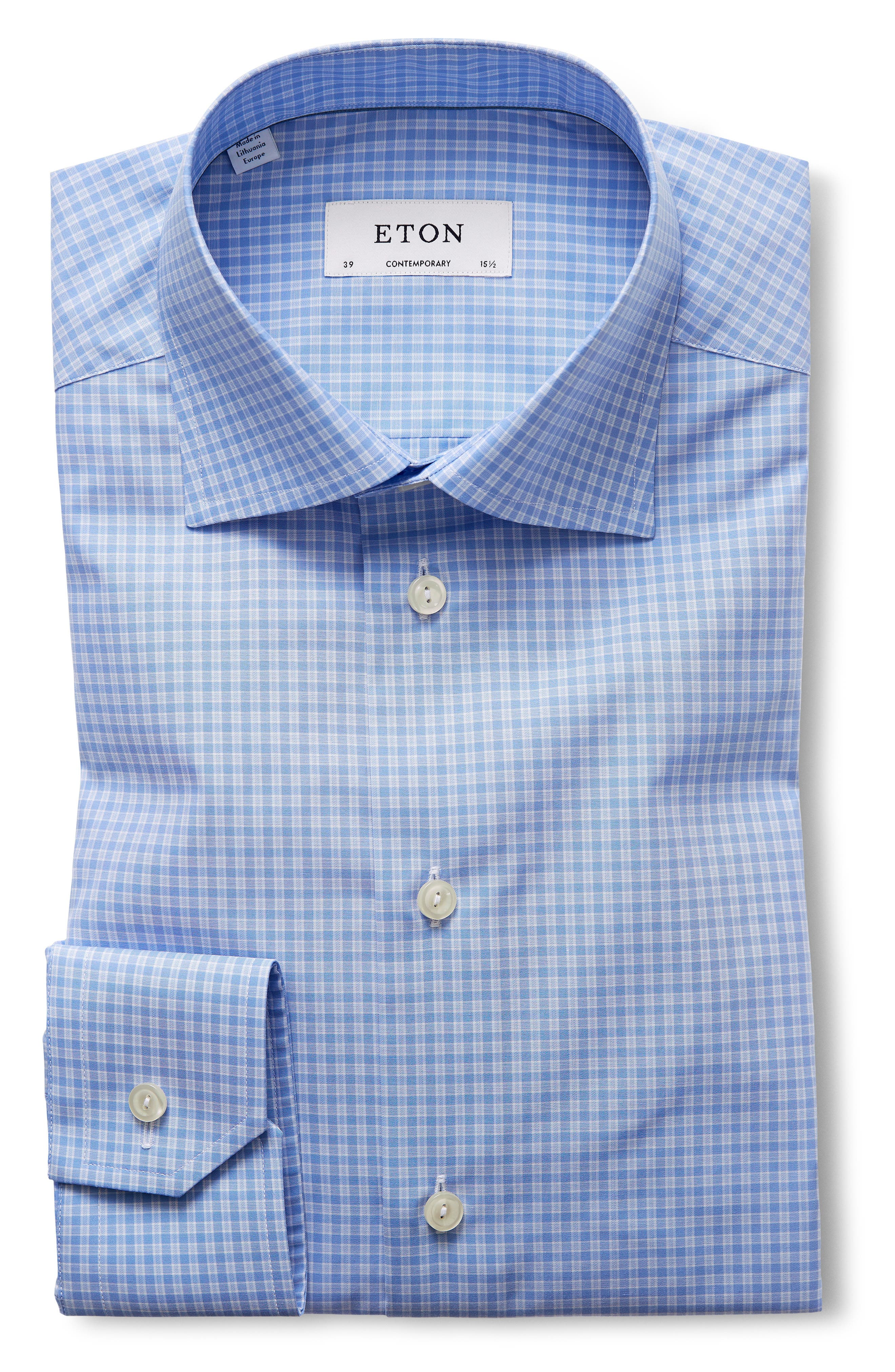 Contemporary Fit Check Dress Shirt,                             Alternate thumbnail 3, color,                             400
