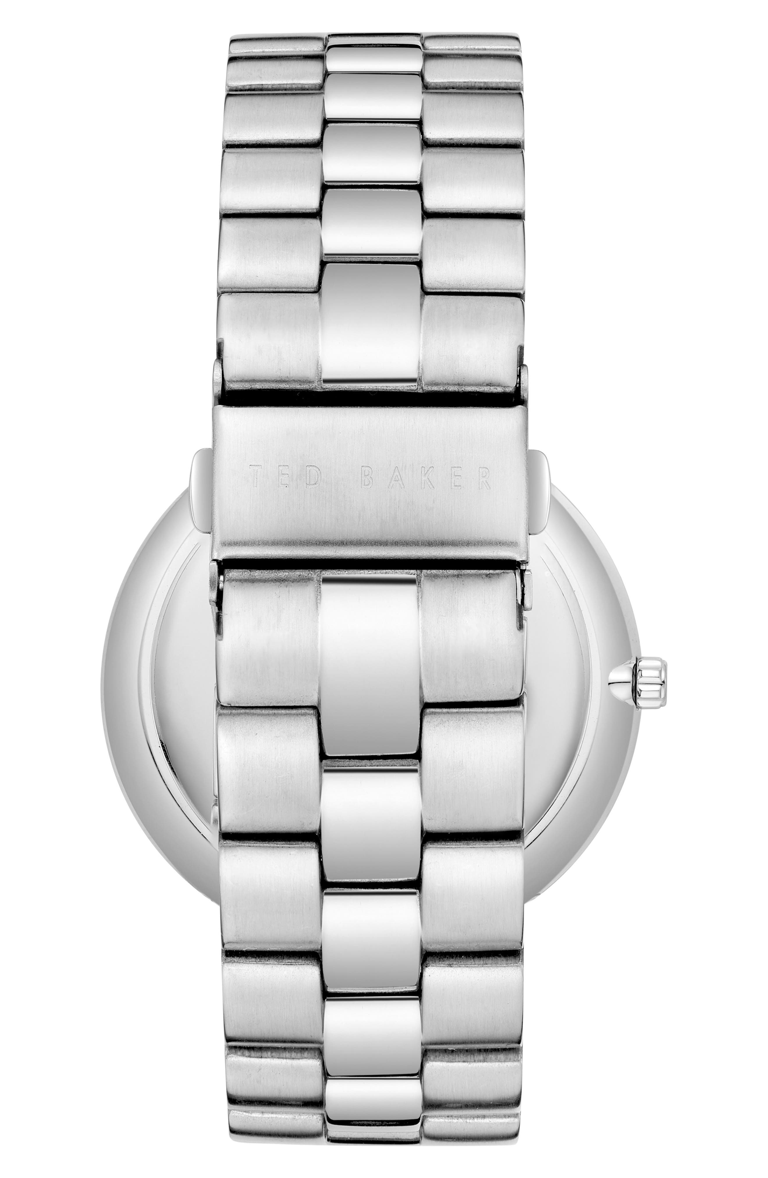 Brit Multifunction Bracelet Watch, 40mm,                             Alternate thumbnail 2, color,                             DARK BLUE/ STAINLESS STEEL