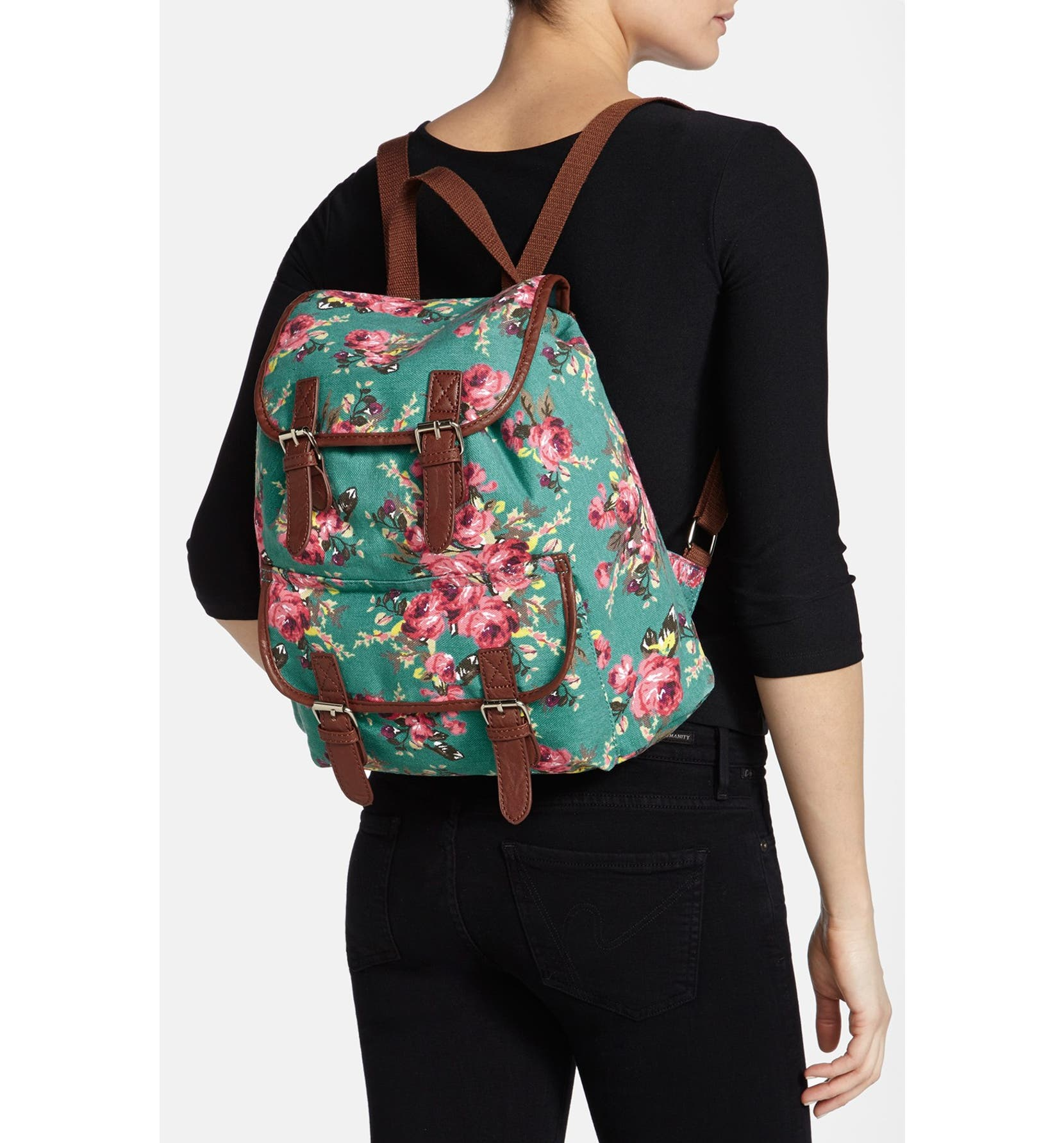 c73eb4dc17c8 Amici Accessories Floral Canvas Backpack (Juniors) (Online Only ...