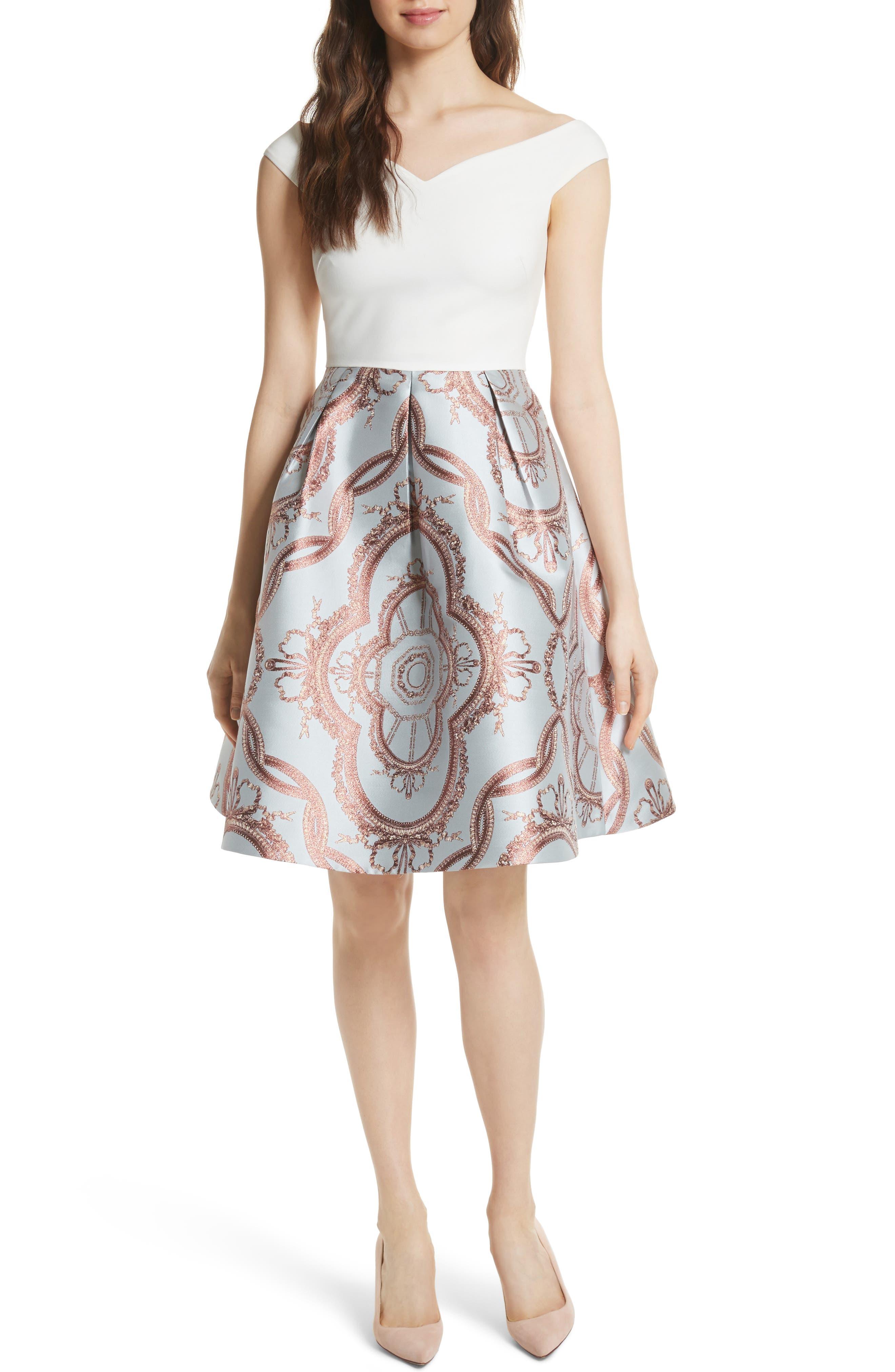 Versailles Fit & Flare Dress,                             Main thumbnail 1, color,                             454