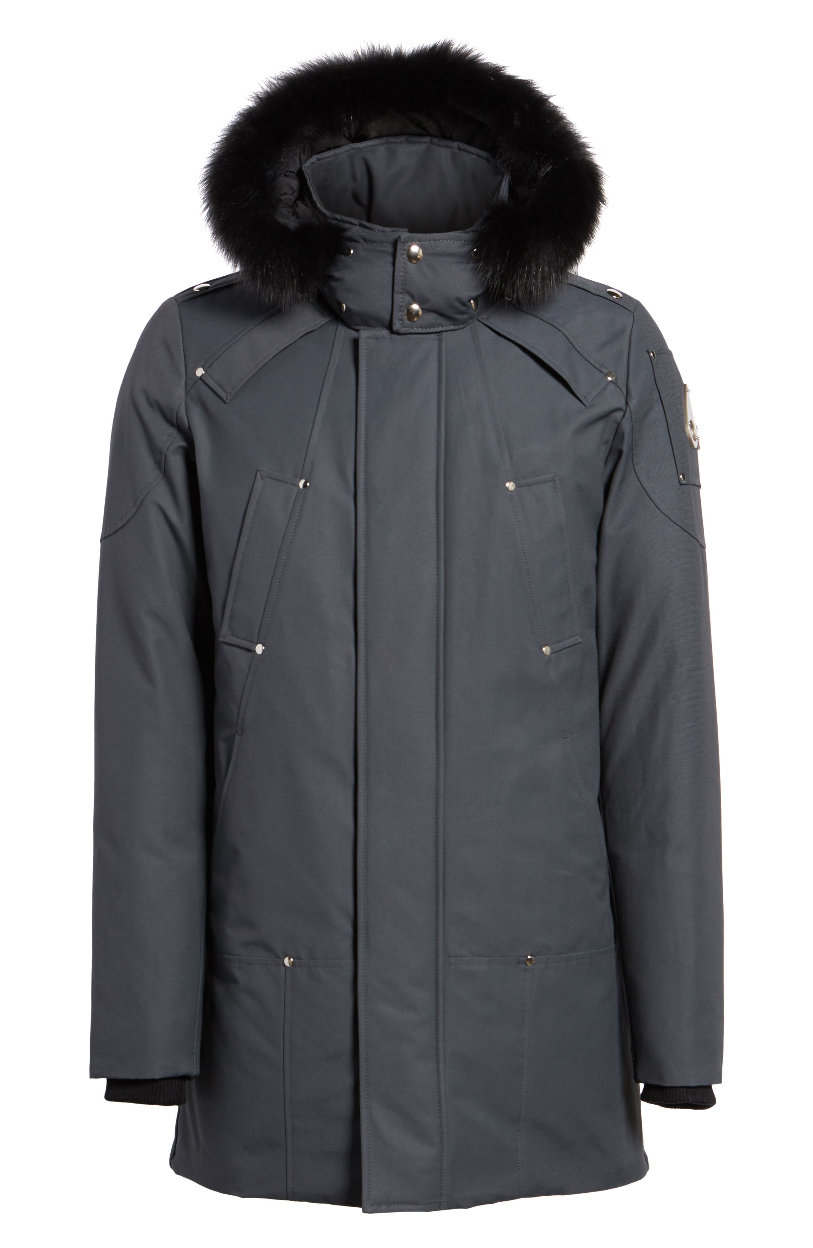 Stirling Water Repellent Down Parka with Genuine Fox Fur Trim,                             Alternate thumbnail 22, color,