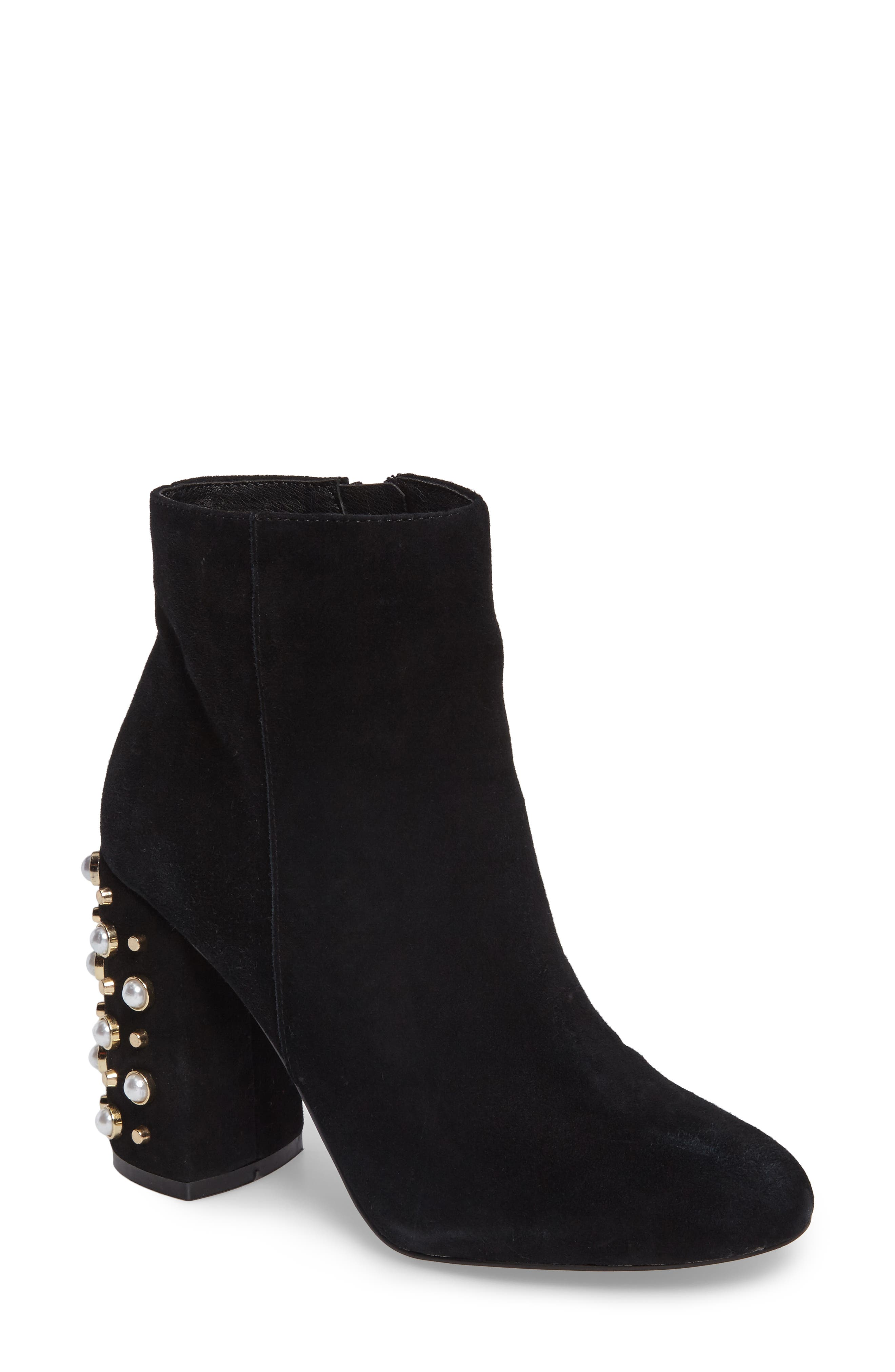 Yvette Embellished Bootie,                             Main thumbnail 1, color,                             006