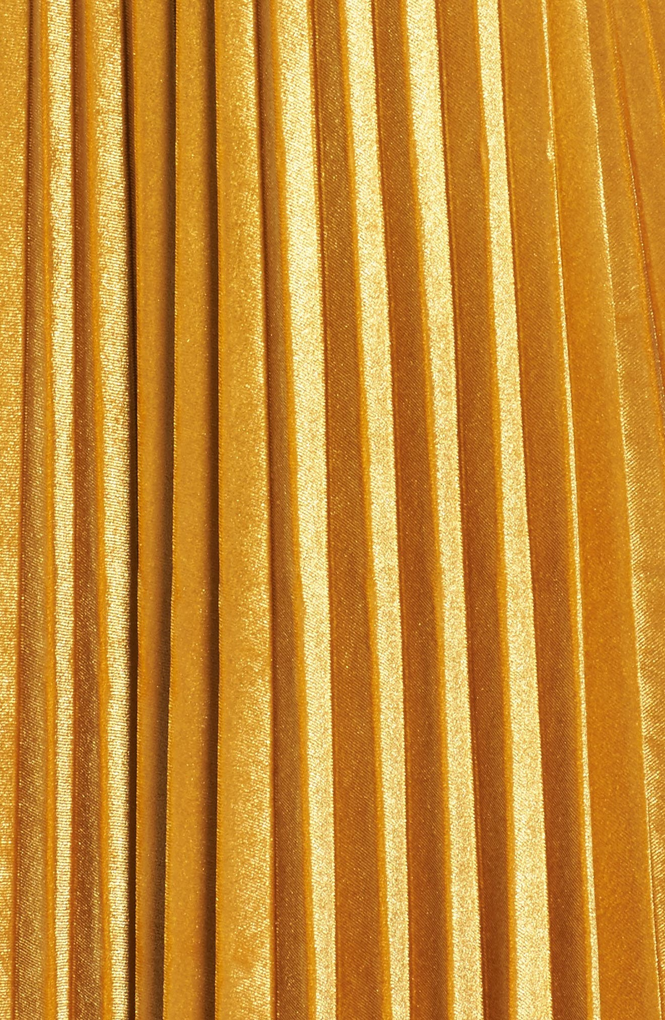 Pleated Velvet Skirt,                             Alternate thumbnail 5, color,