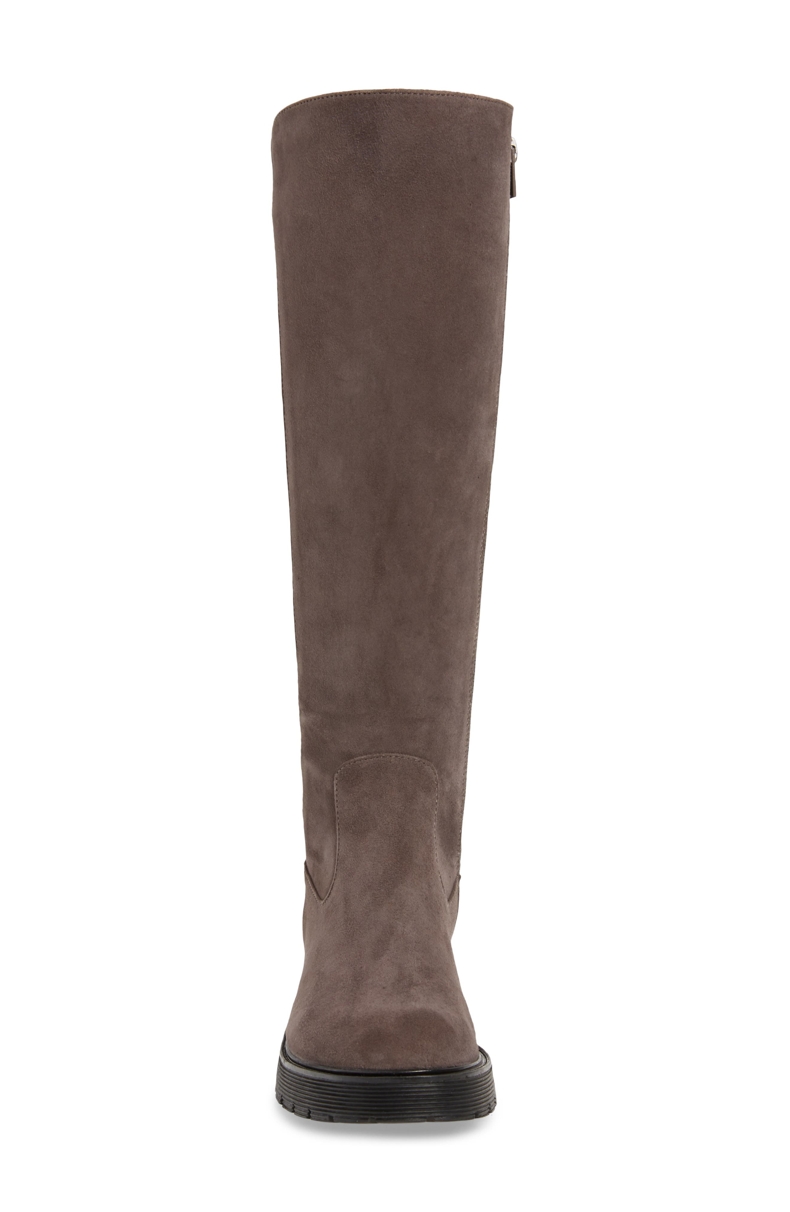 Themis Knee High Riding Boot,                             Alternate thumbnail 4, color,                             DARK UTILITY/ BLACK SUEDE