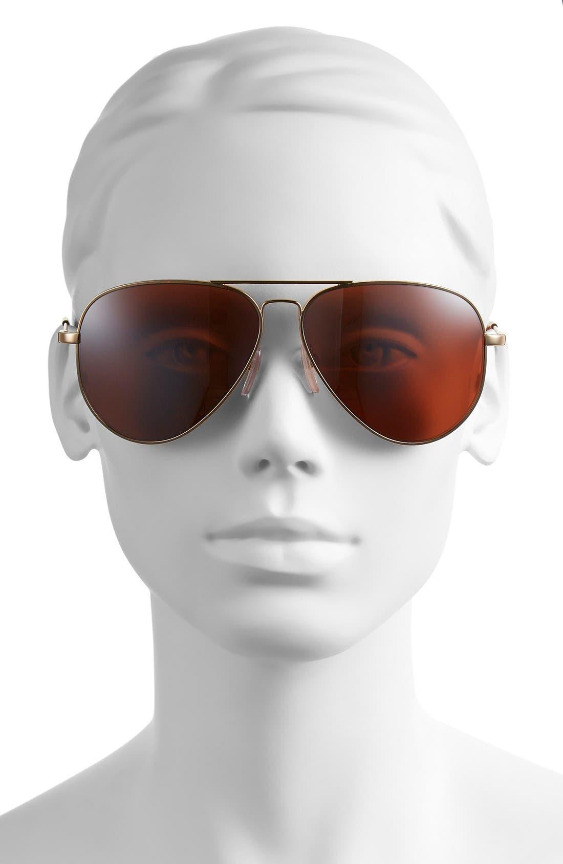 'AV1 XL' 62mm Aviator Sunglasses,                             Alternate thumbnail 8, color,