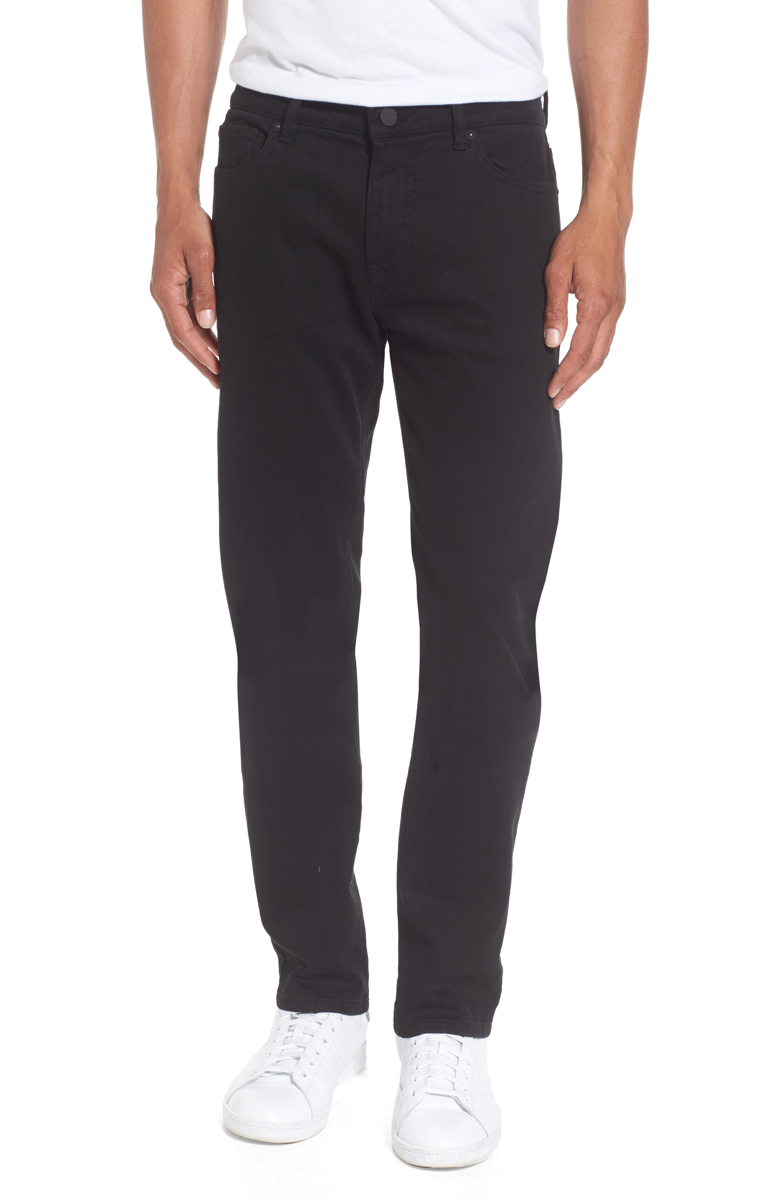 Nick Slim Fit Flat Front Pants, Main, color, 001