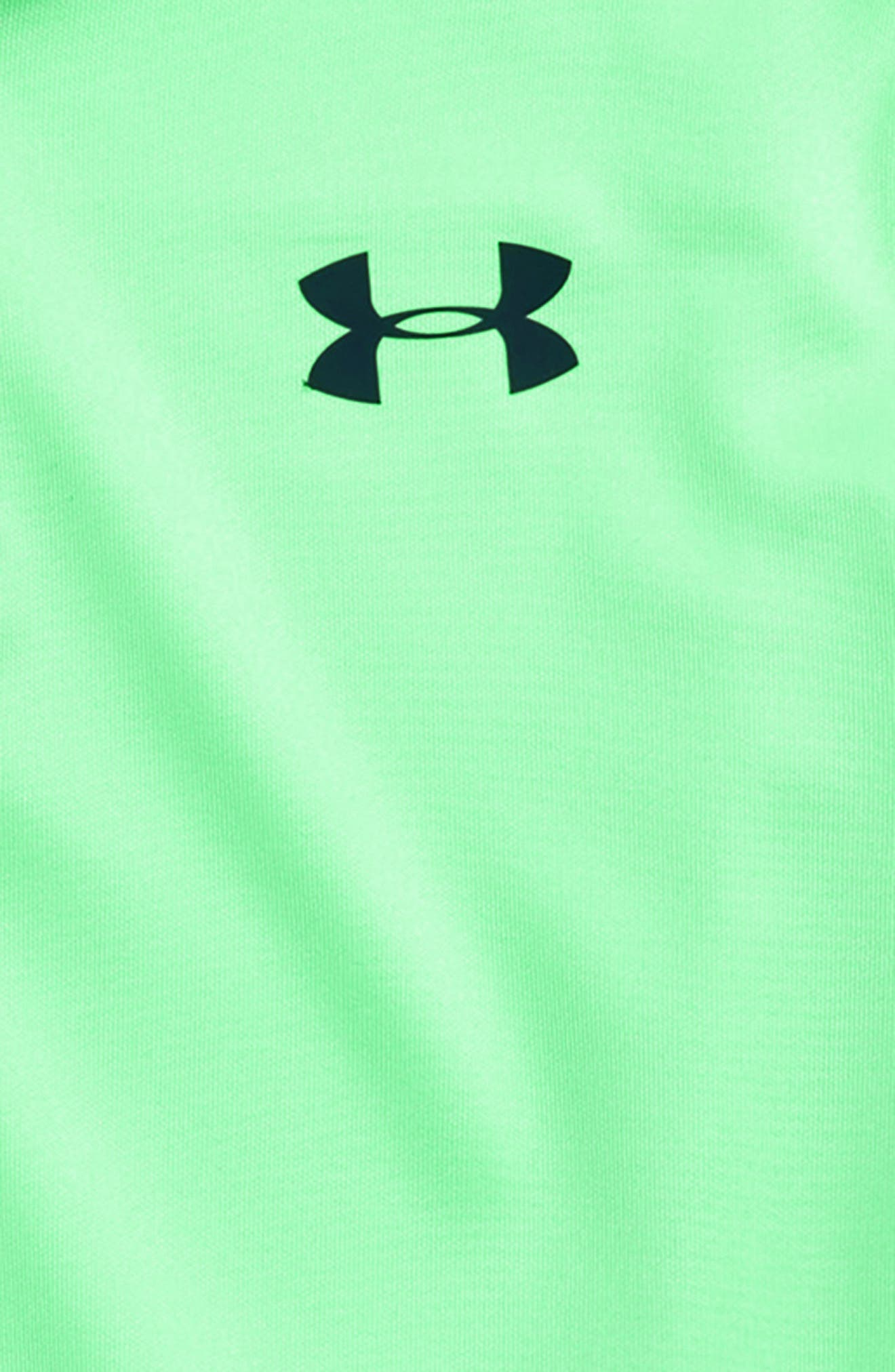 Performance HeatGear<sup>®</sup> Polo,                             Alternate thumbnail 2, color,                             GREEN TYPHOON ACADEMY