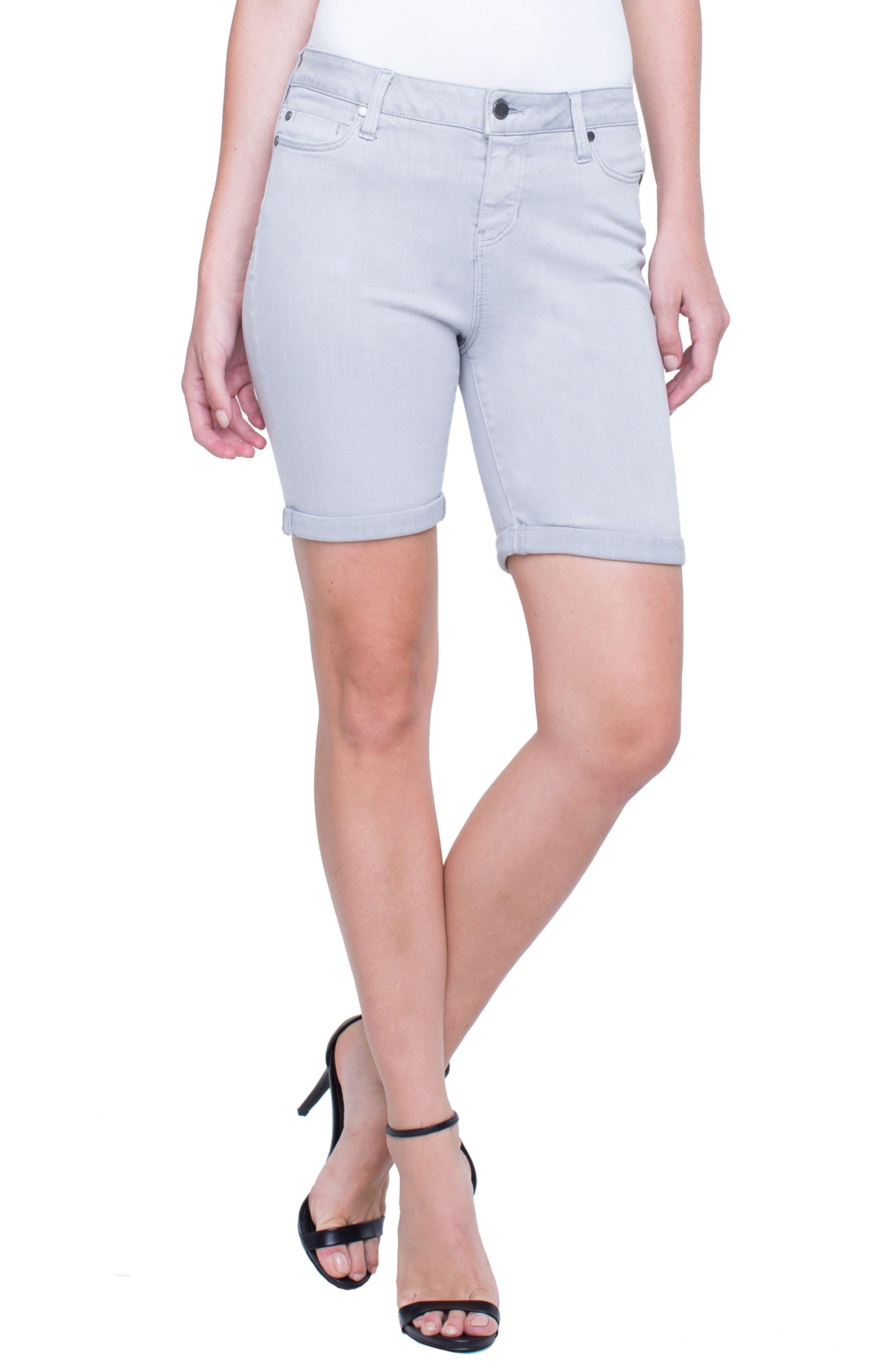 Corine Cuffed Denim Shorts,                         Main,                         color,