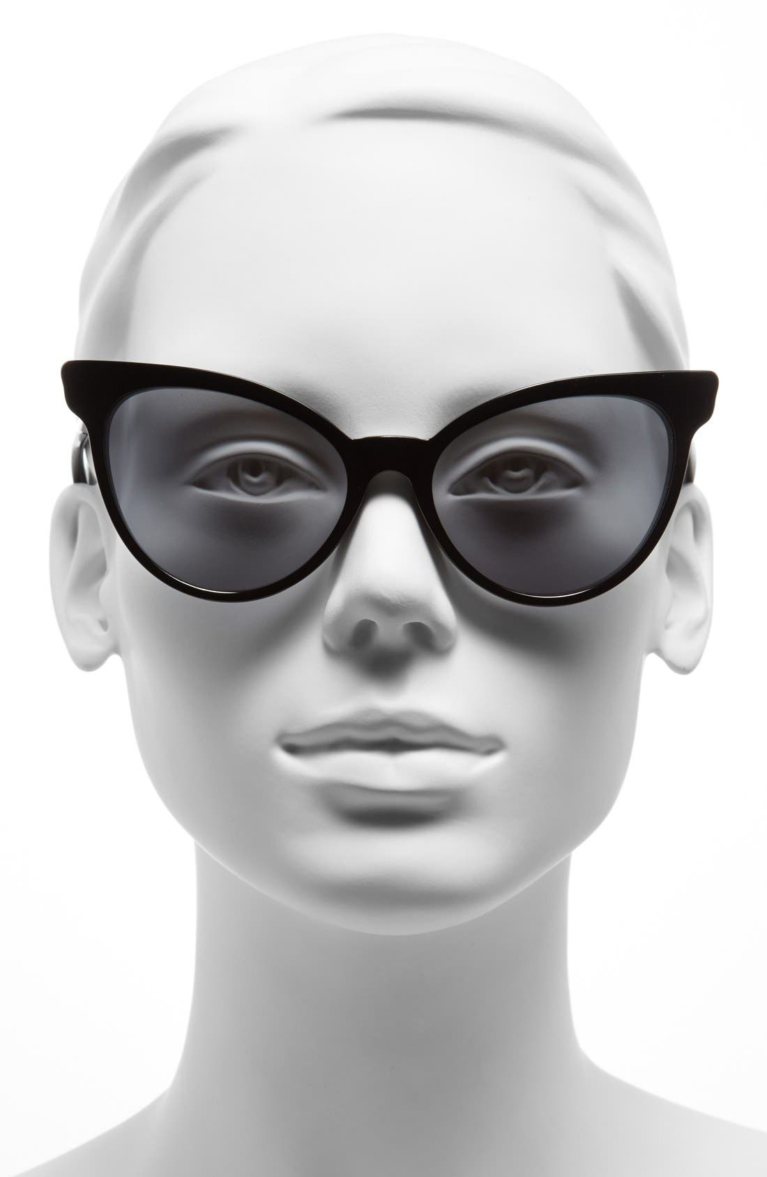 'La Femme Deluxe' 55mm Sunglasses,                             Alternate thumbnail 2, color,                             001