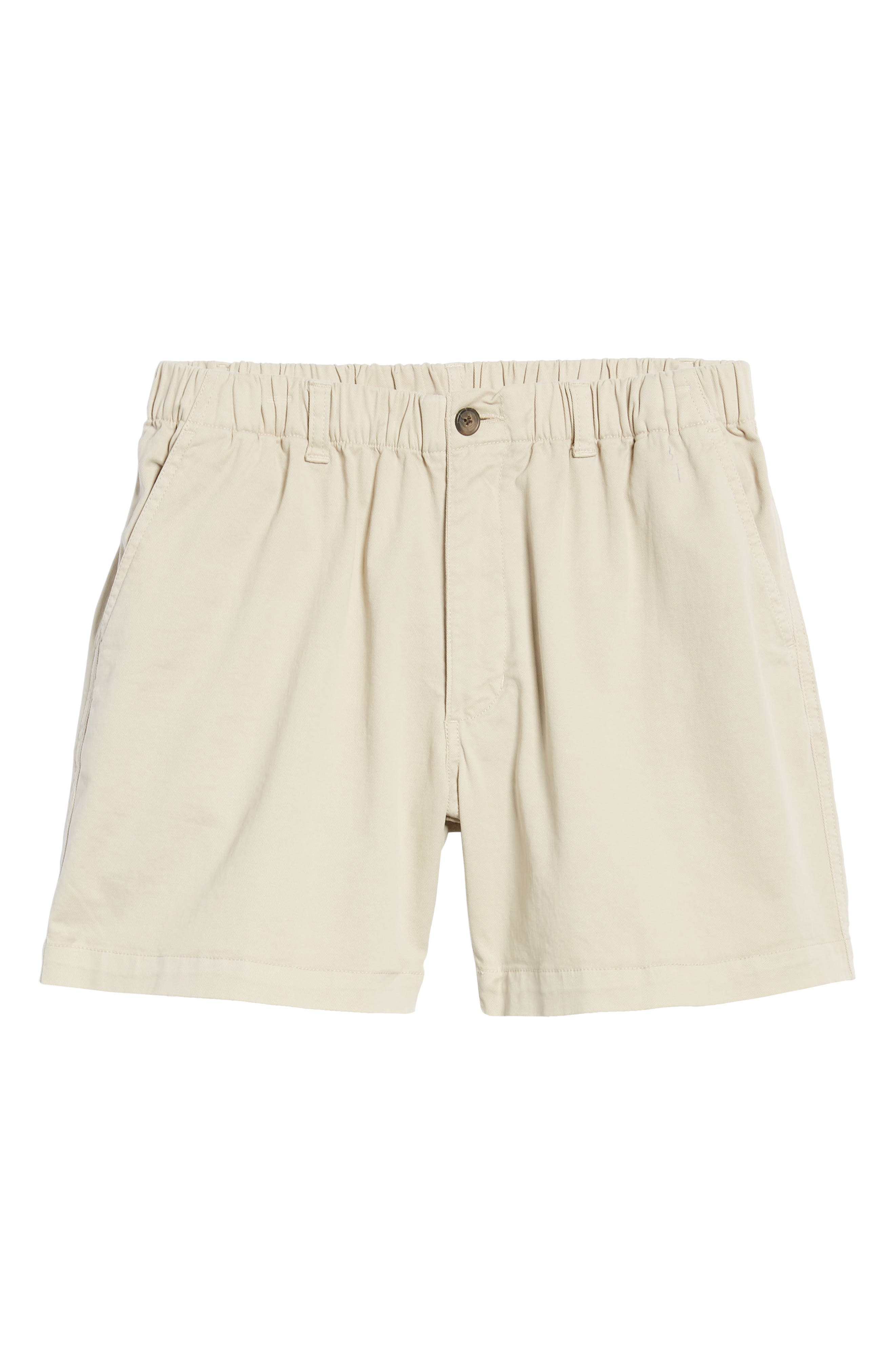 Snappers Elastic Waist 5.5 Inch Stretch Shorts,                             Alternate thumbnail 6, color,                             STONE