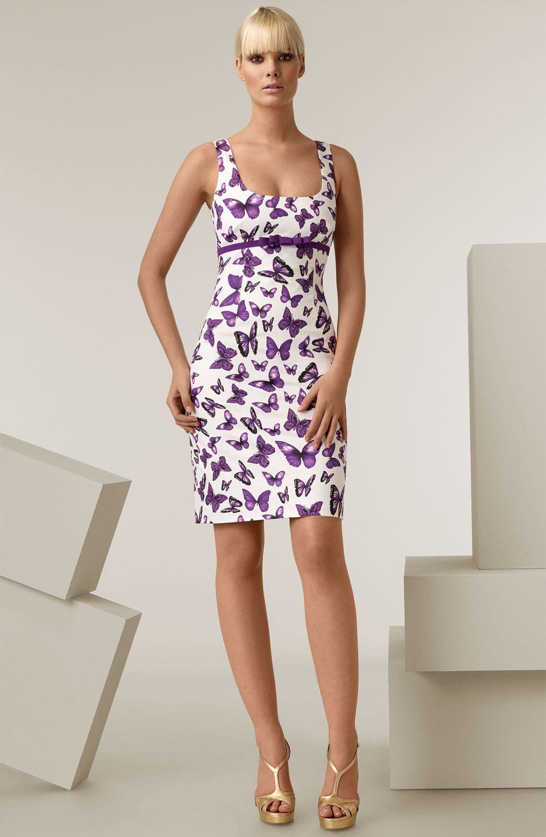 Butterfly Print Dress,                             Main thumbnail 1, color,                             136