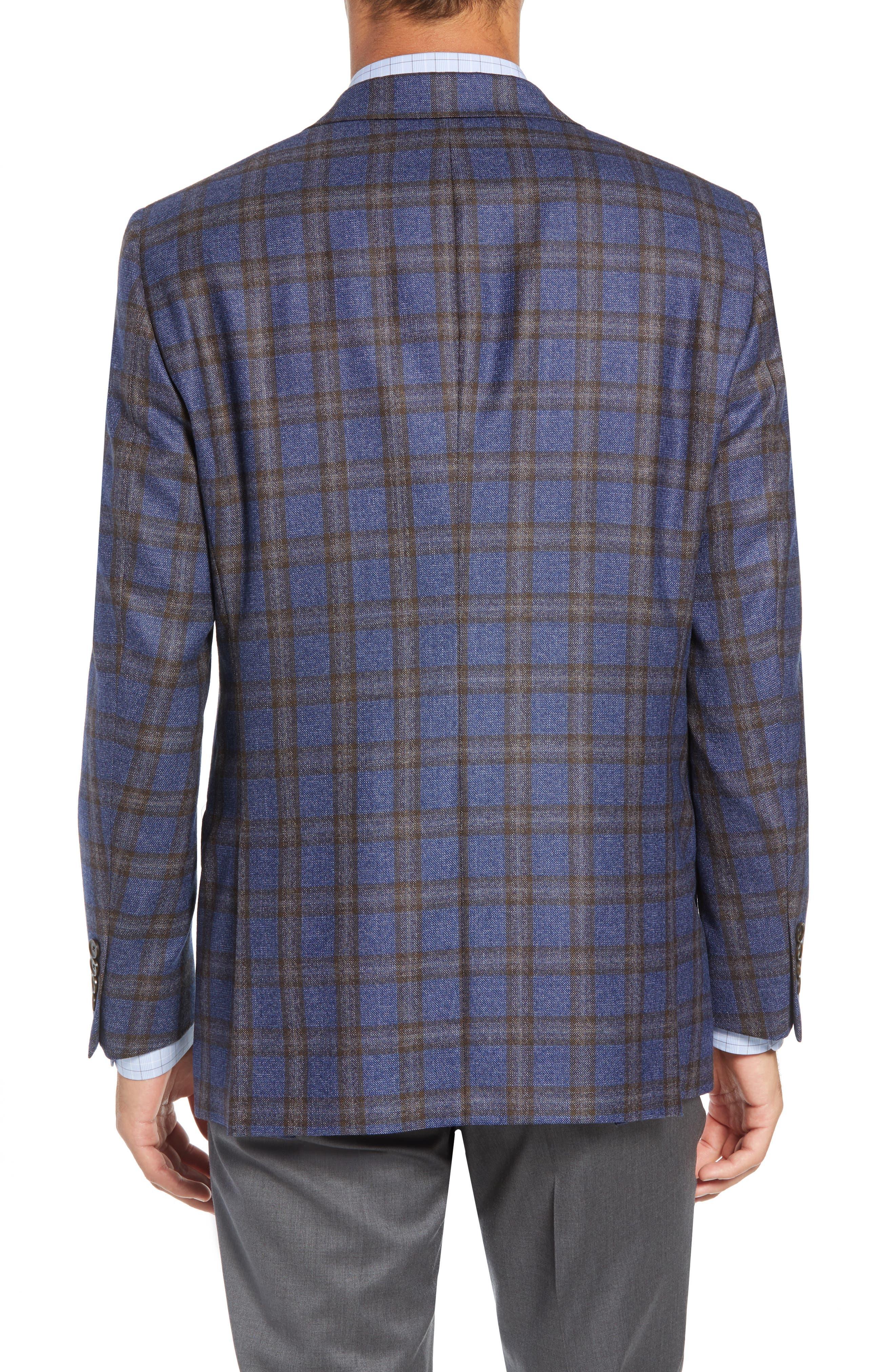 Classic Fit Plaid Wool Sport Coat,                             Alternate thumbnail 2, color,                             420