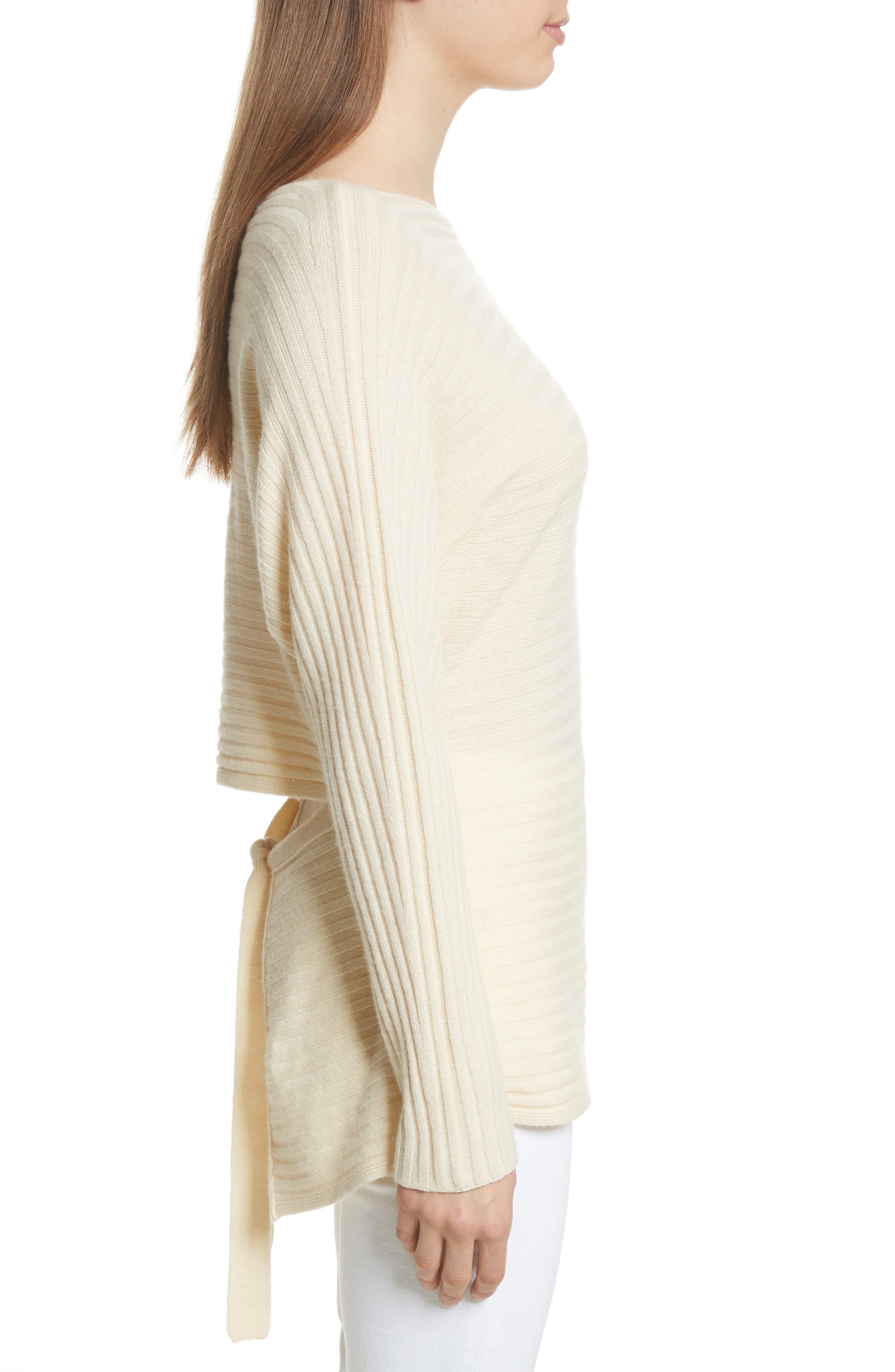 Tie Back Wool & Cashmere Sweater,                             Alternate thumbnail 9, color,