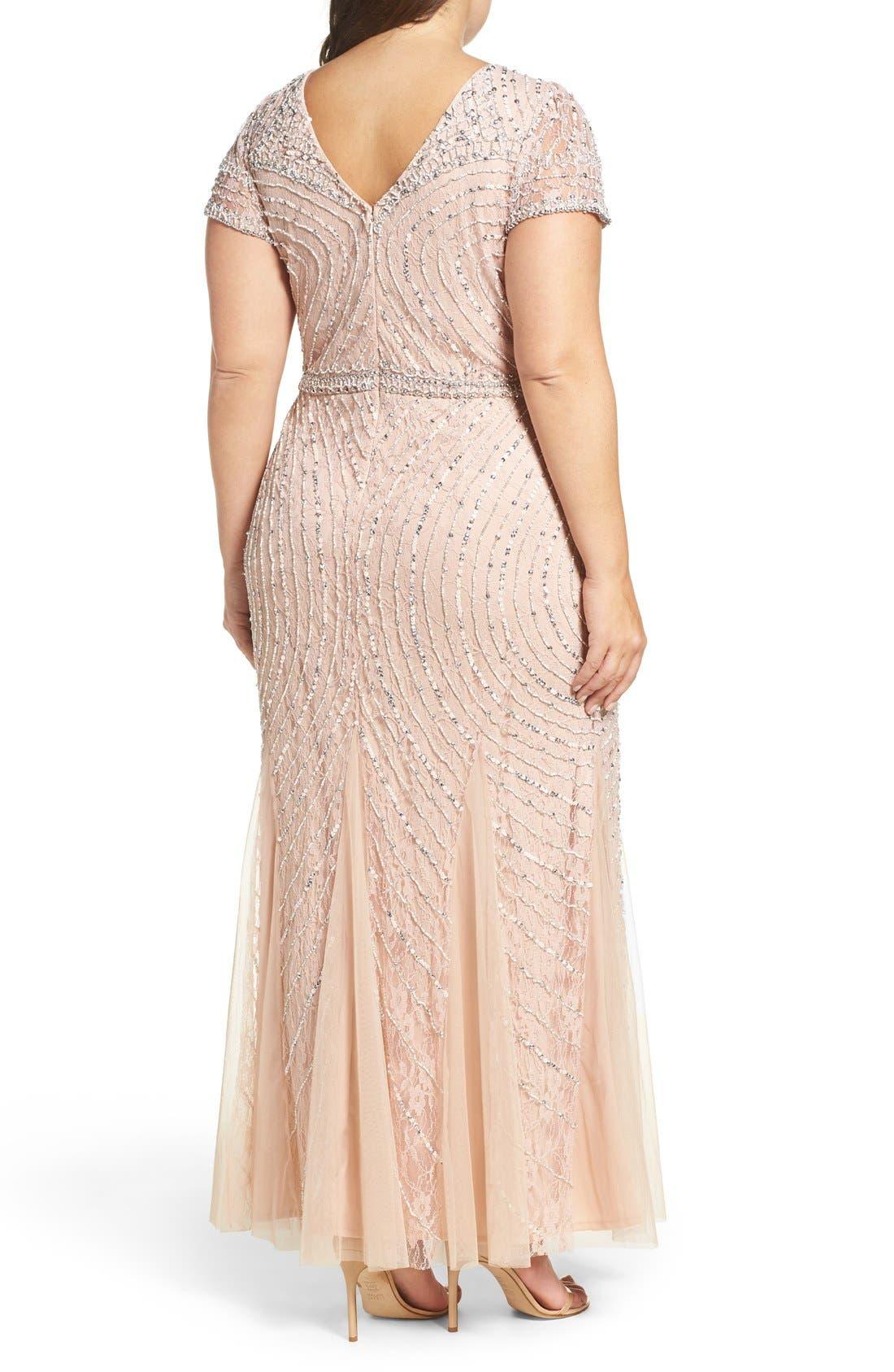 Sequin Lace A-Line Gown,                             Alternate thumbnail 3, color,                             269
