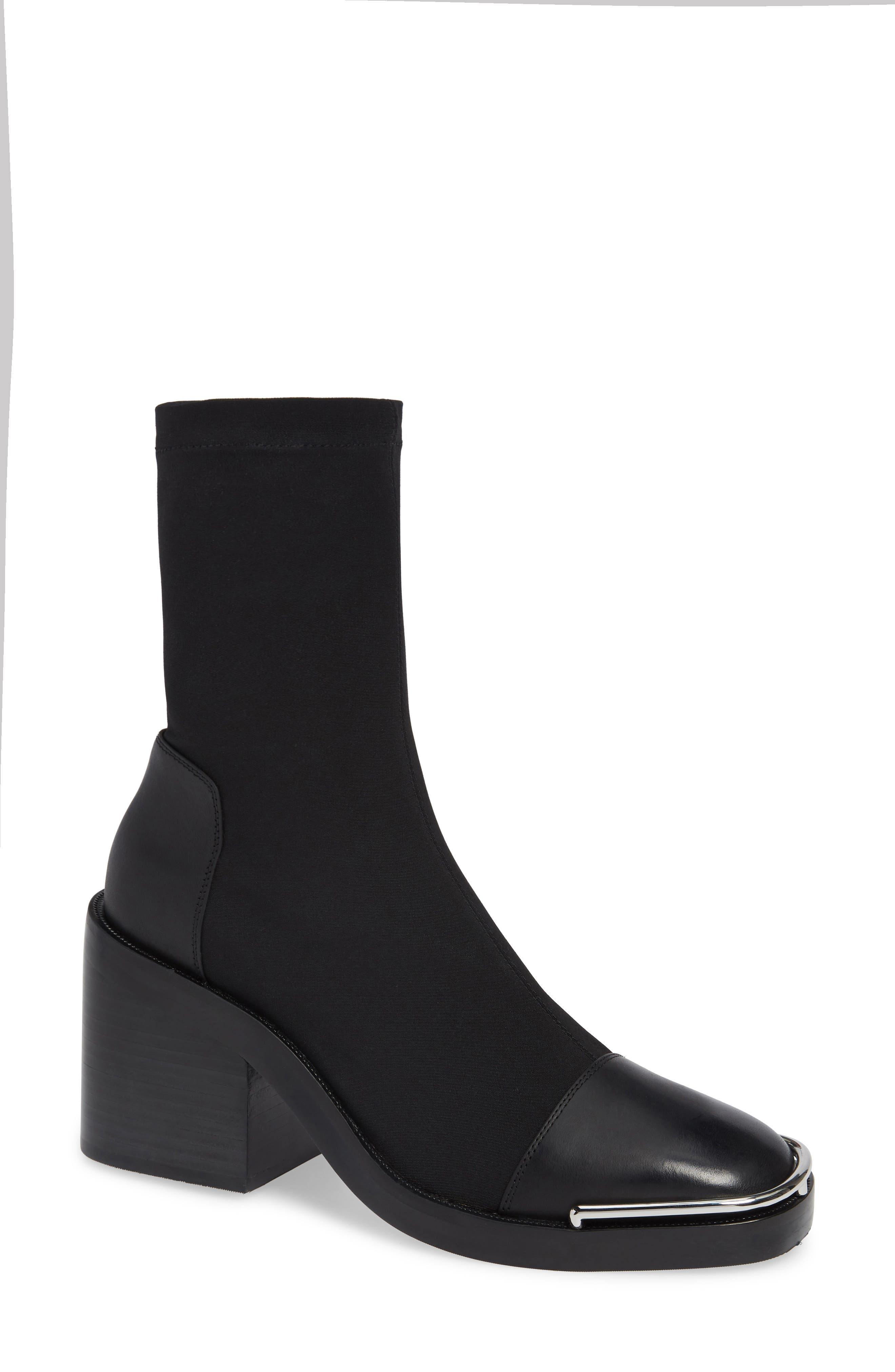 Alexander Wang Hailey Halo Sock Bootie - Black