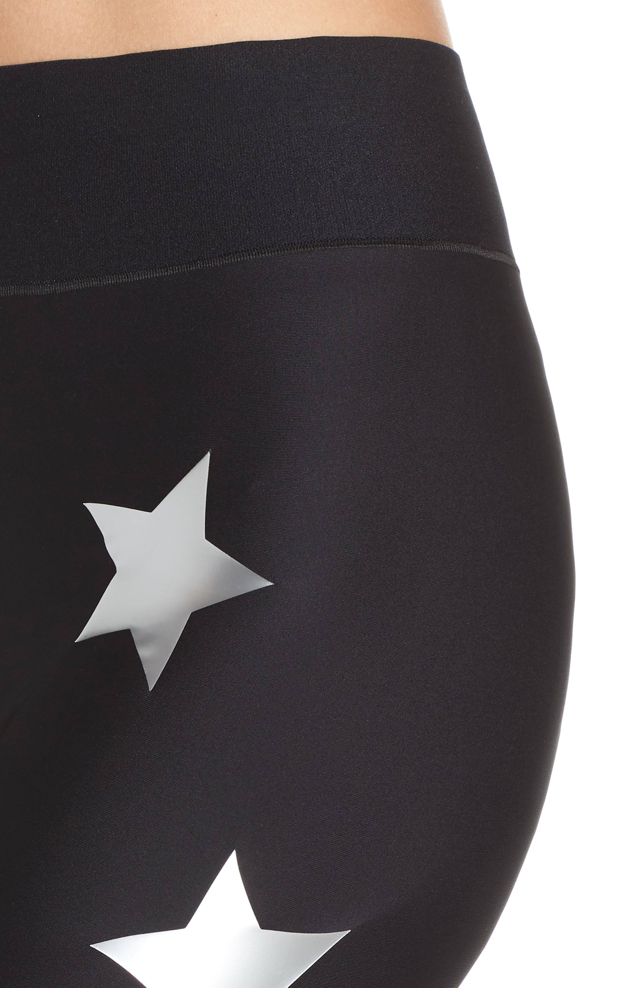 Lux Knockout Leggings,                             Alternate thumbnail 4, color,                             NERO SILVER