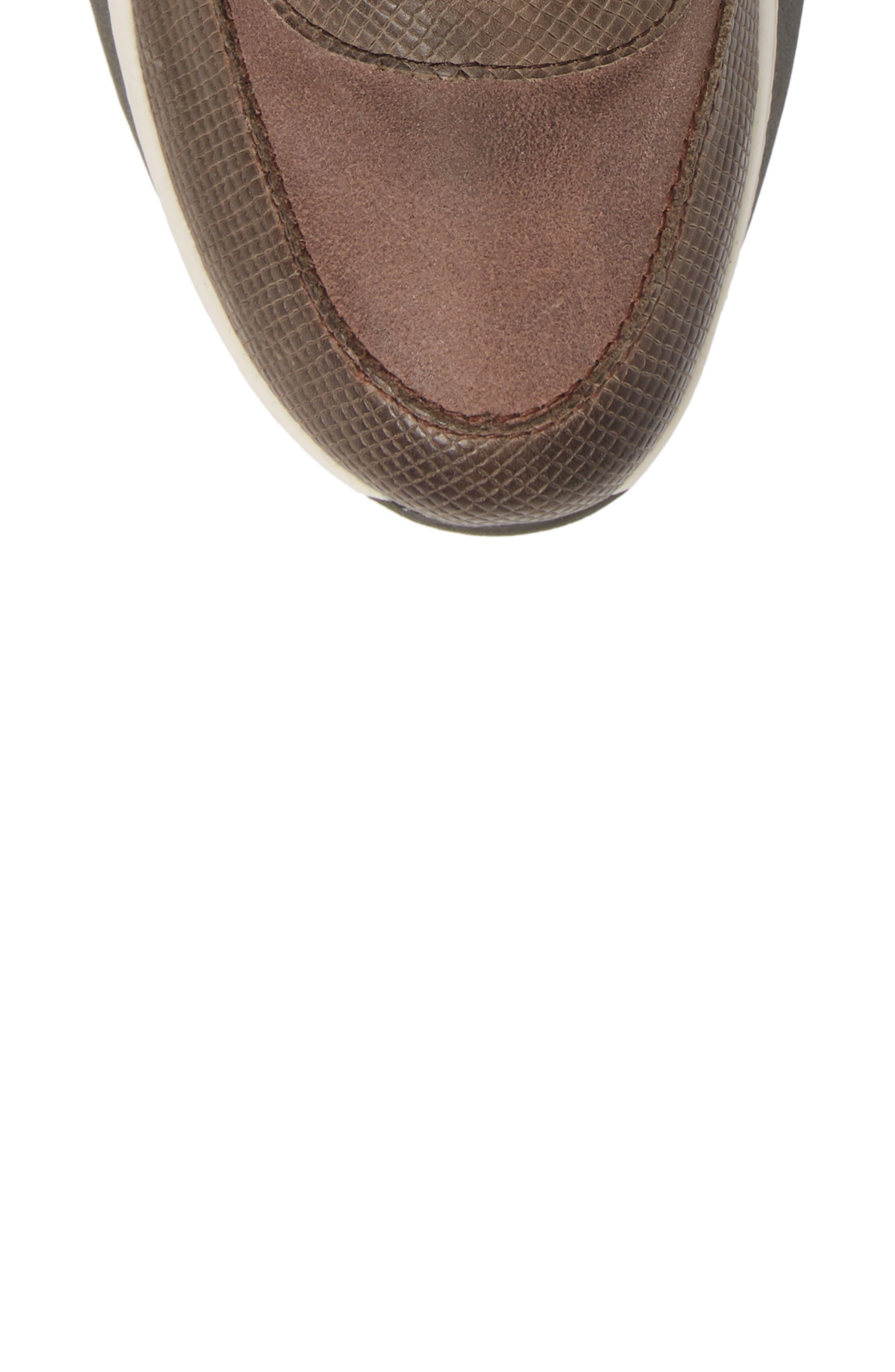 Commuter Sneaker,                             Alternate thumbnail 5, color,                             CINDER LEATHER
