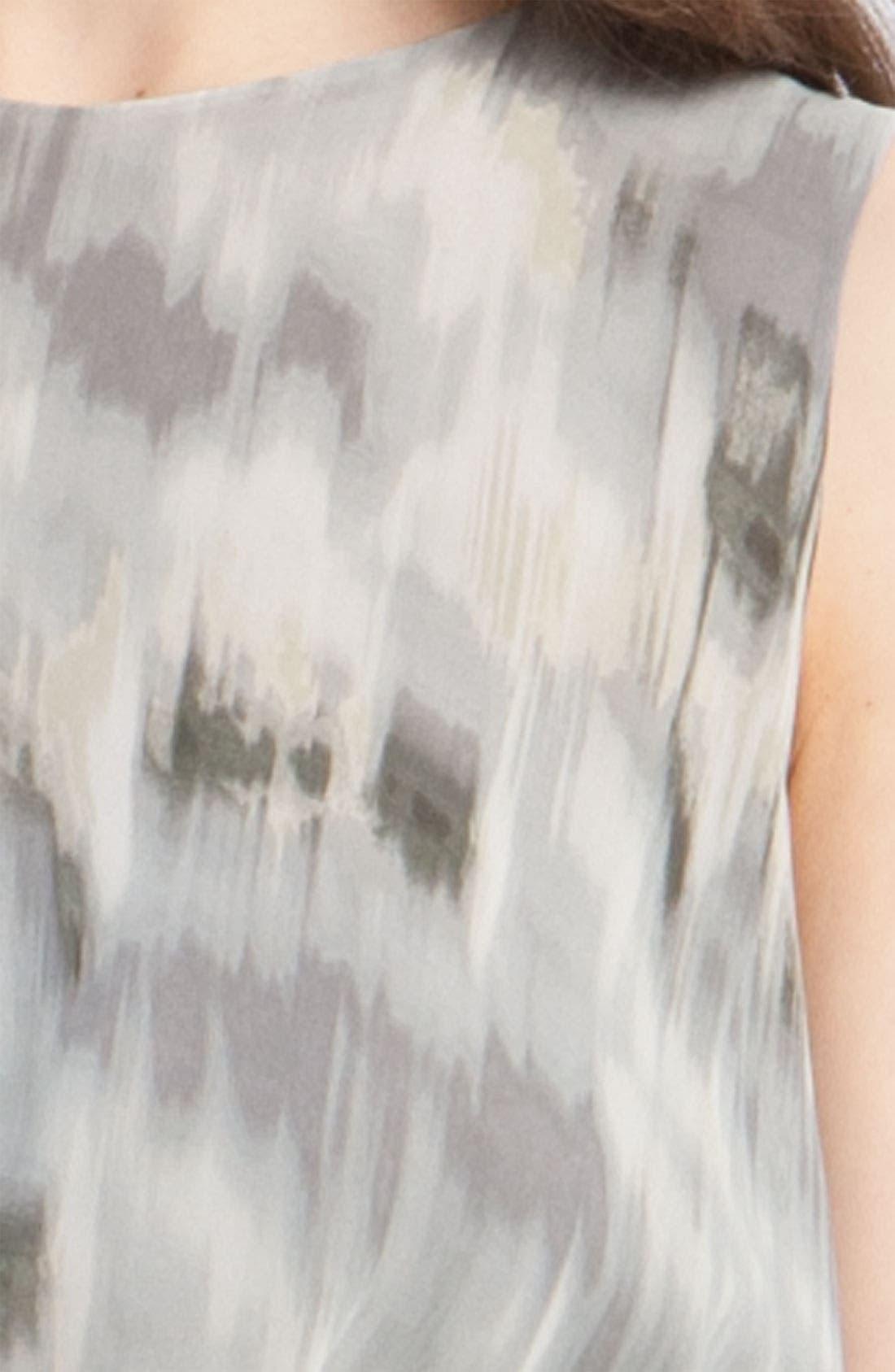 Pleated Ikat Print Dress,                             Alternate thumbnail 2, color,                             020