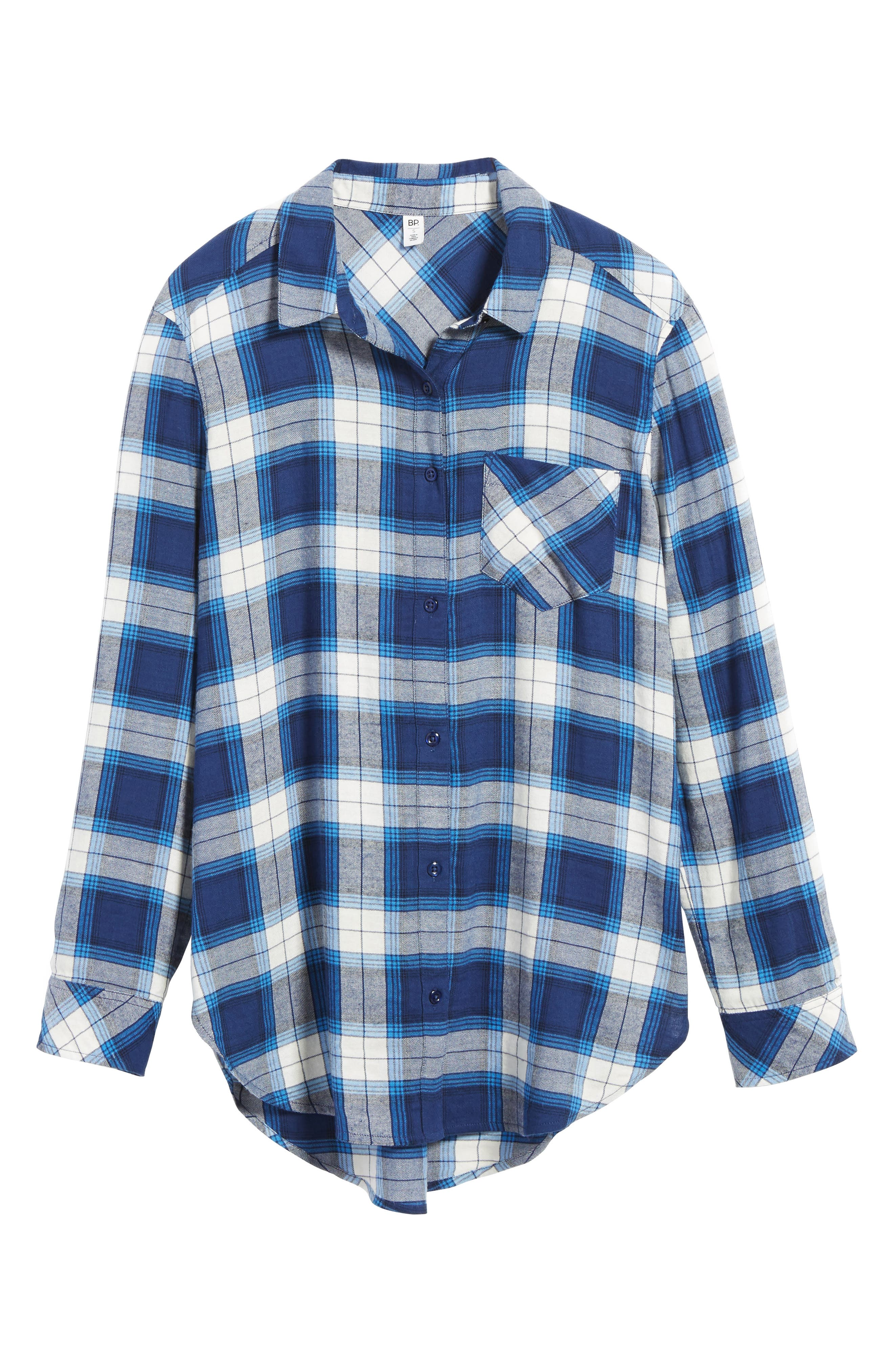 Plaid Cotton Blend Shirt,                             Alternate thumbnail 27, color,
