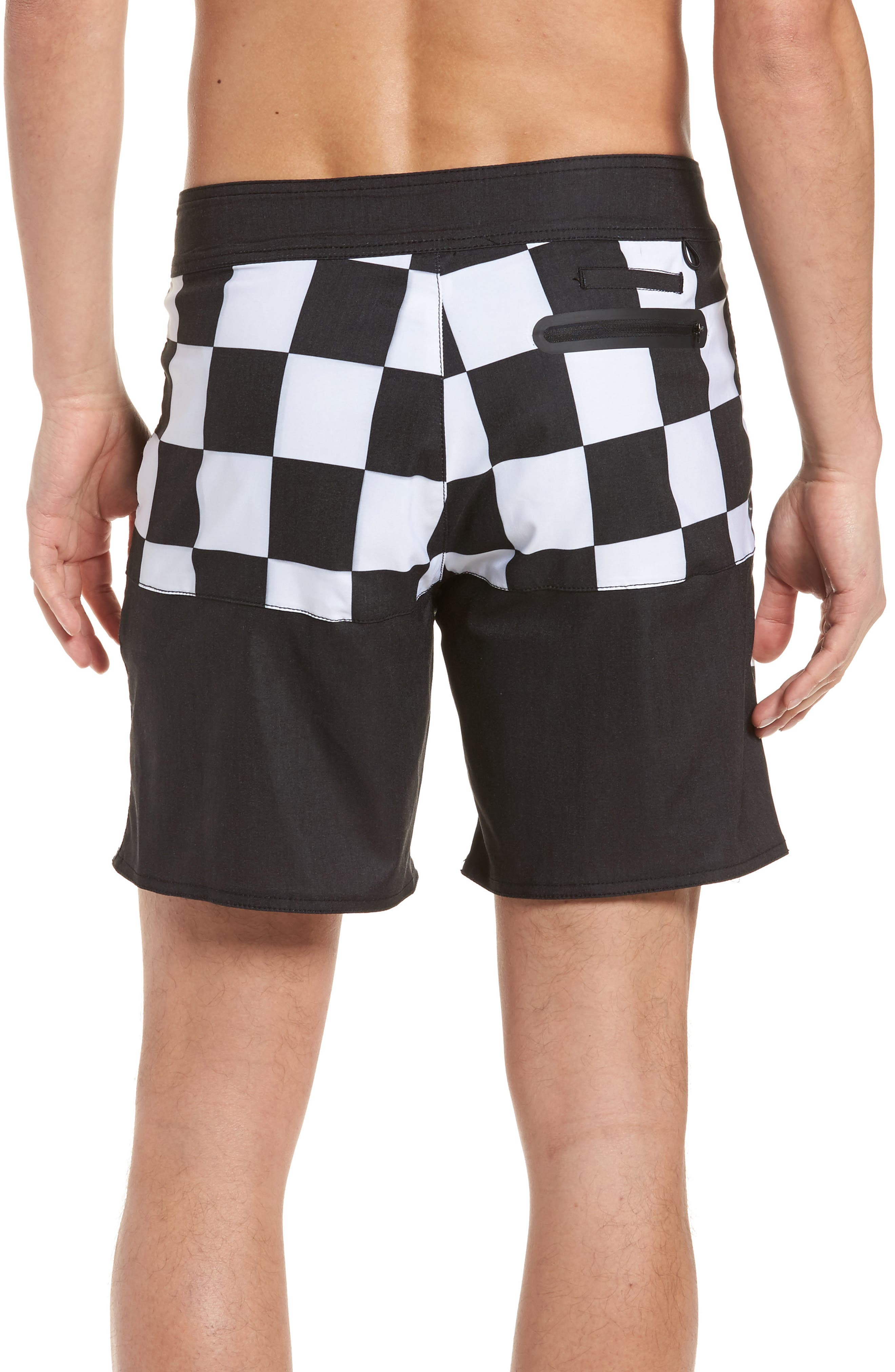 Checkered Board Shorts,                             Alternate thumbnail 2, color,                             001