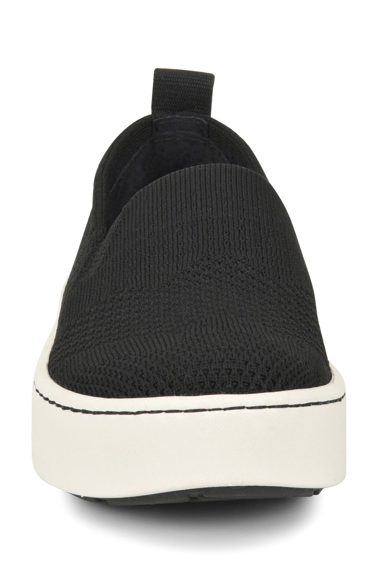 Sun Slip-On Sneaker,                             Alternate thumbnail 4, color,                             BLACK FABRIC
