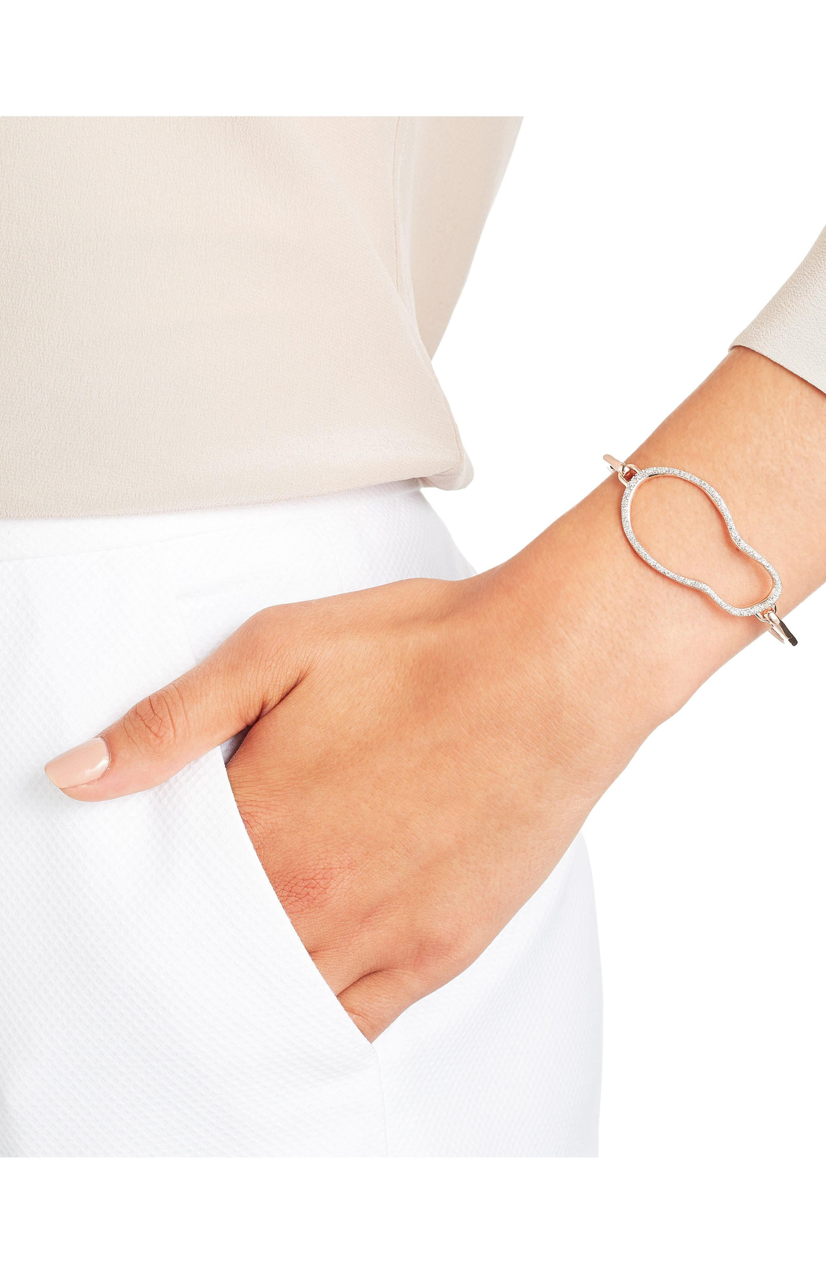 Riva Diamond Bracelet,                             Alternate thumbnail 2, color,                             ROSE GOLD/ DIAMOND