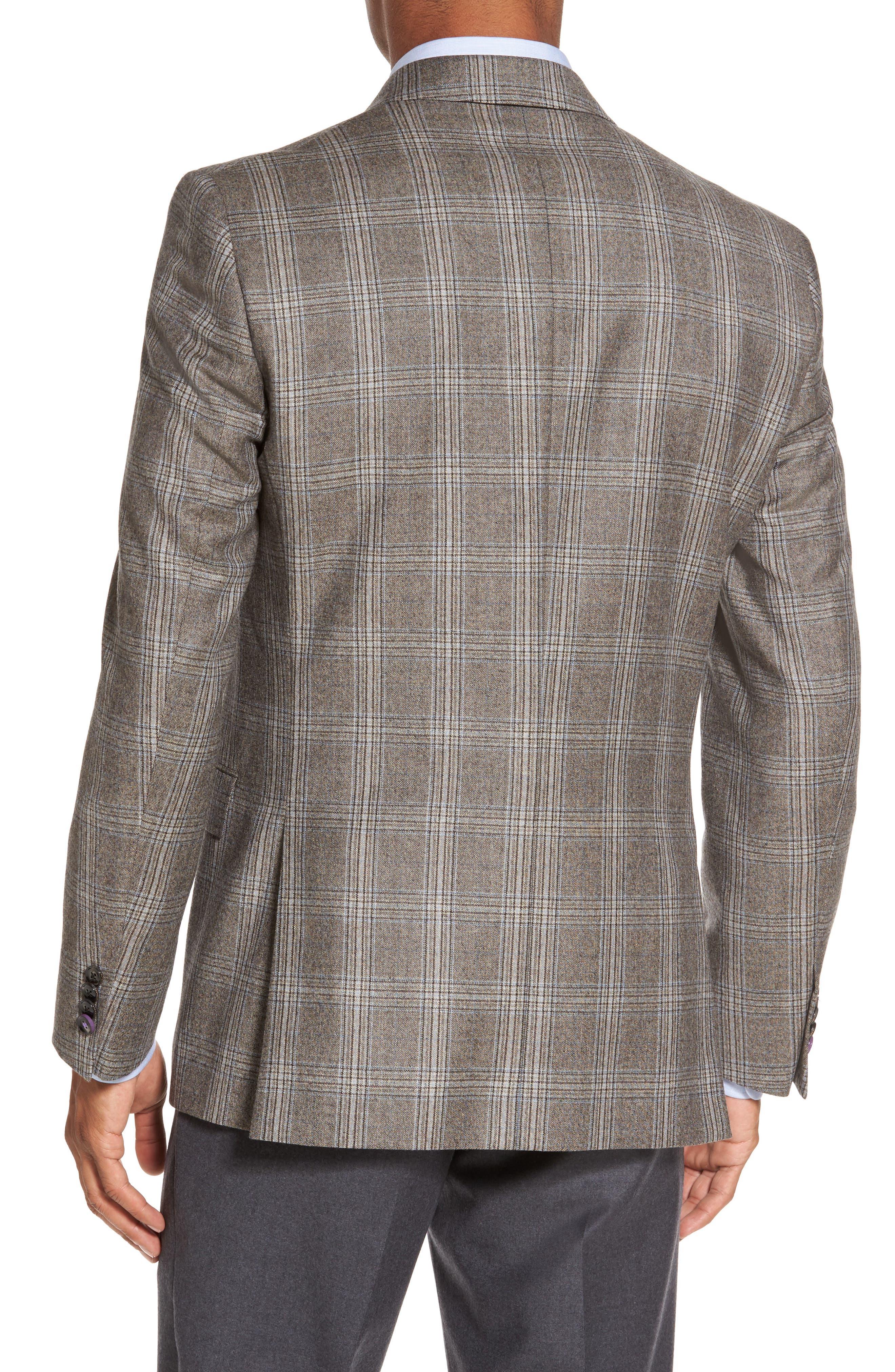 Jay Trim Fit Plaid Wool Sport Coat,                             Alternate thumbnail 2, color,                             230