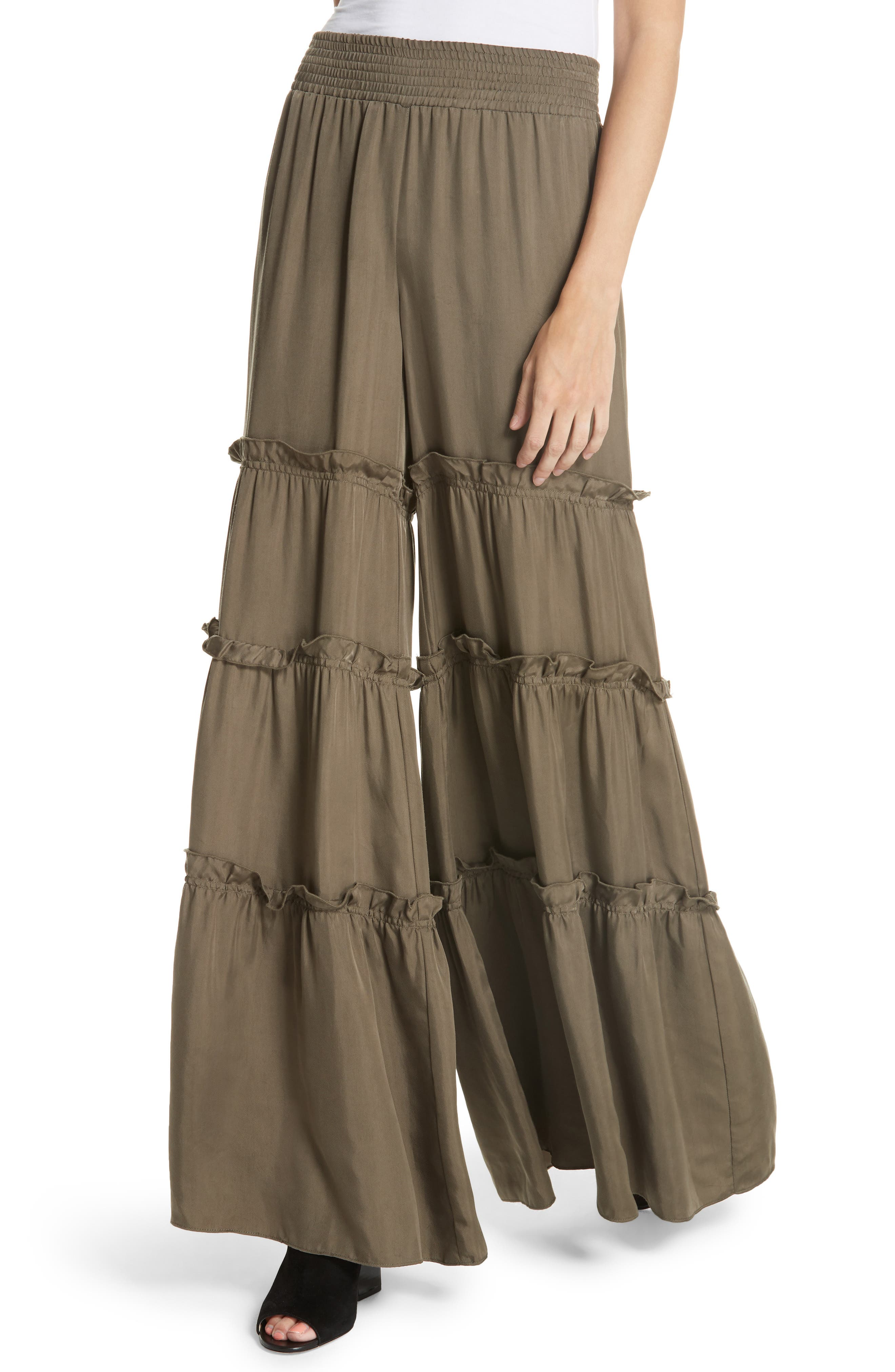 Avery Ruffle Tier Pants,                             Alternate thumbnail 4, color,                             319